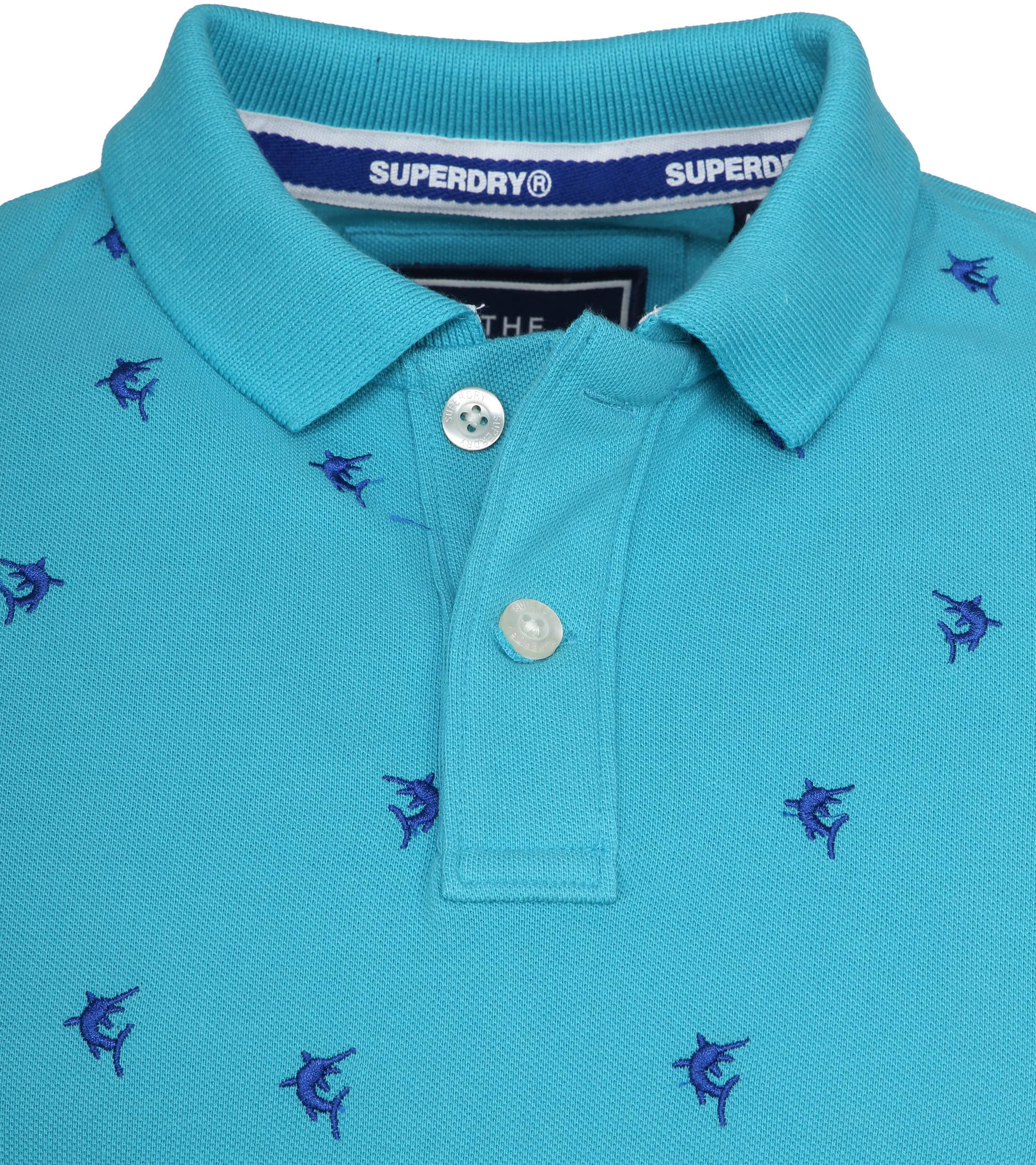 Superdry Polo Bermuda City Turquoise foto 1
