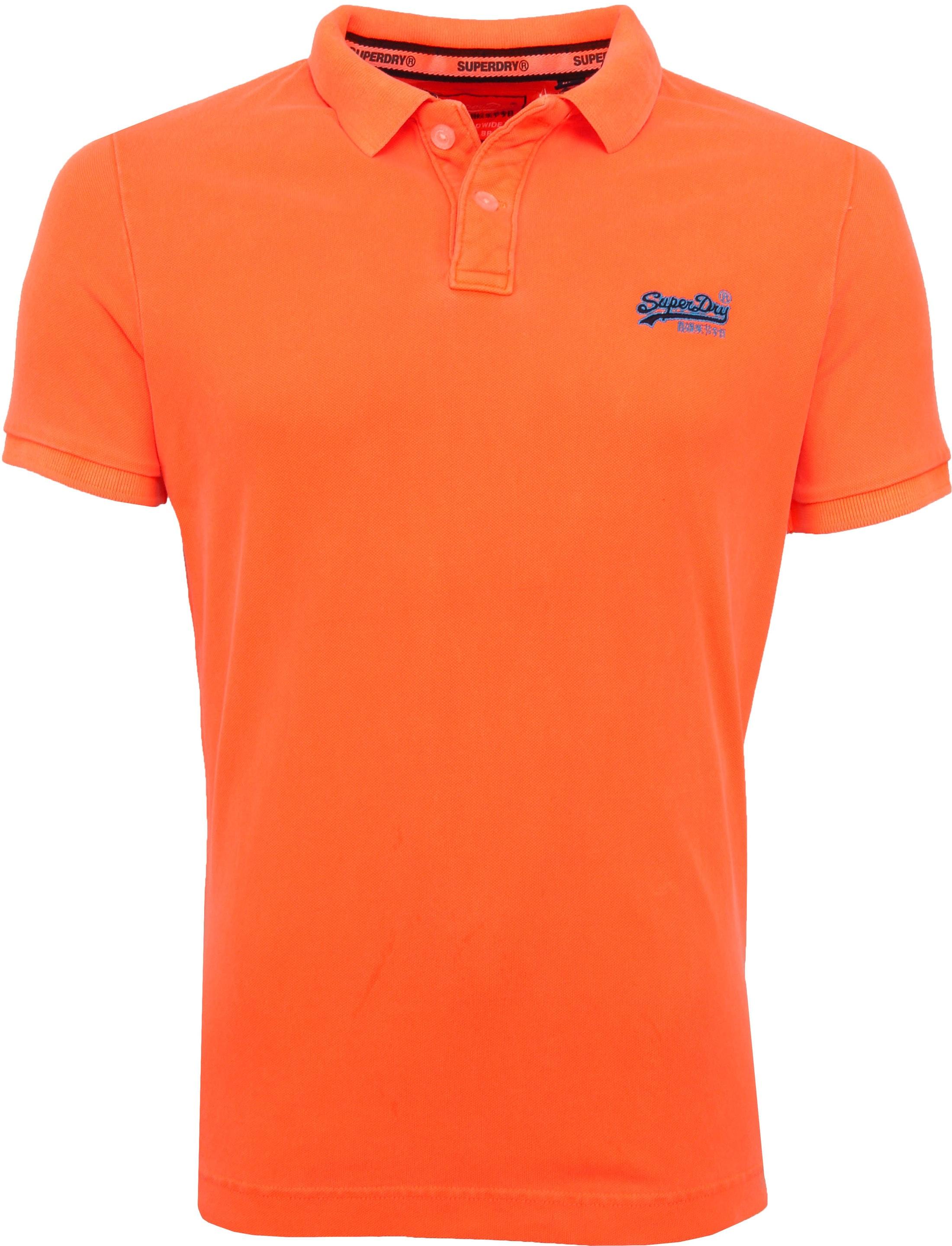 Superdry Polo Fluro Oranje foto 0