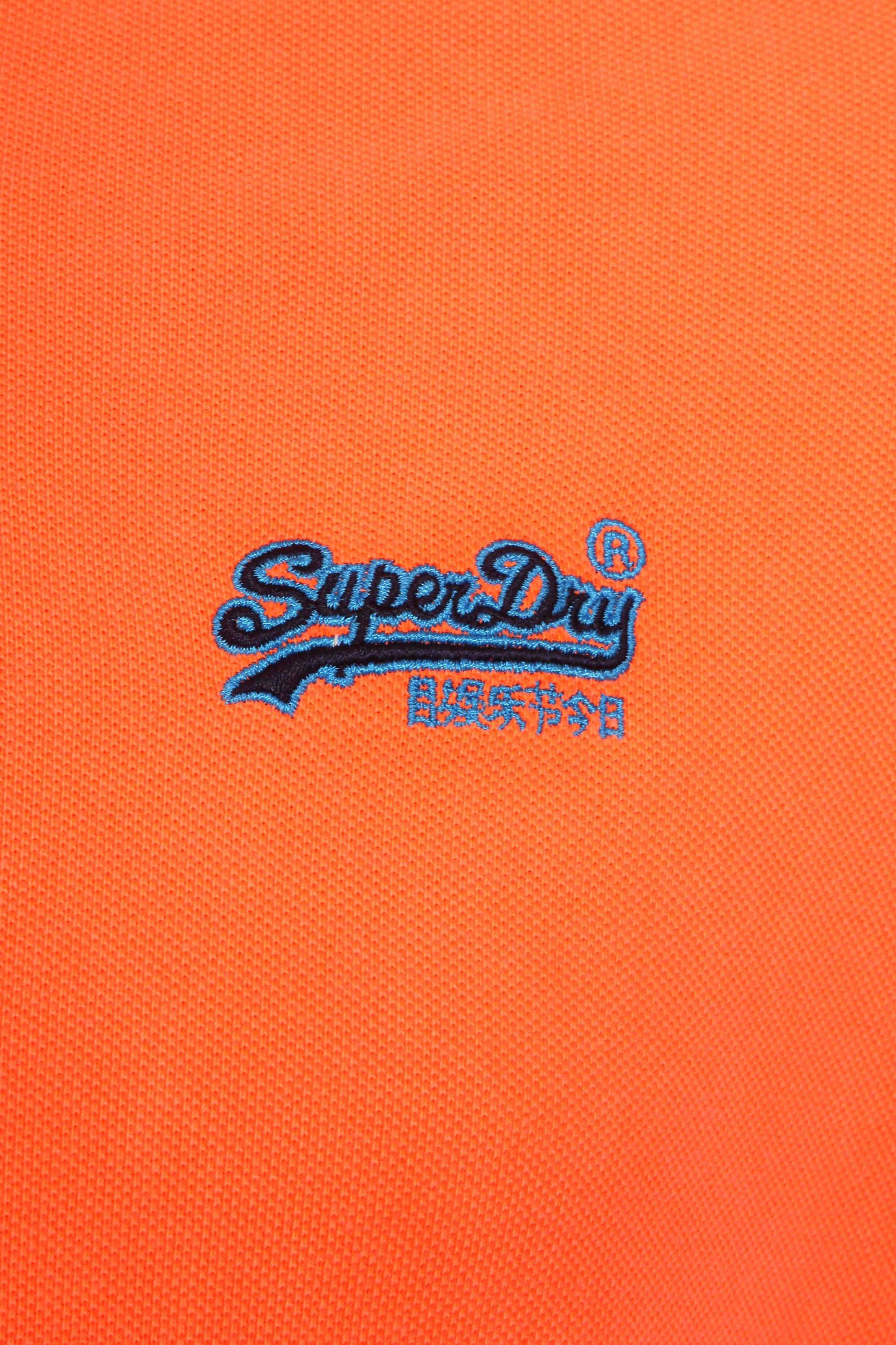 Superdry Polo Fluro Oranje foto 1