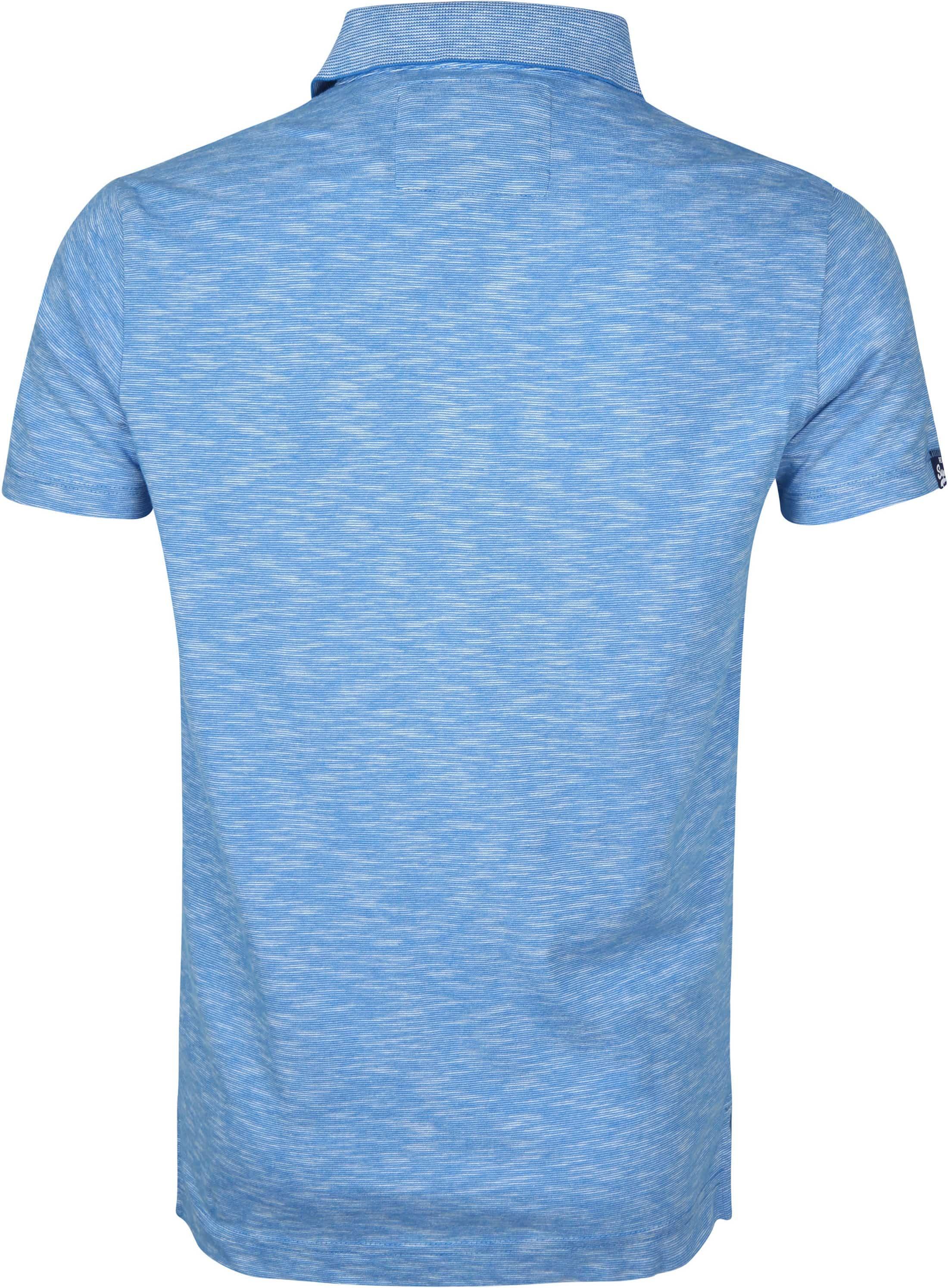 Superdry Polo Melange Lichtblauw