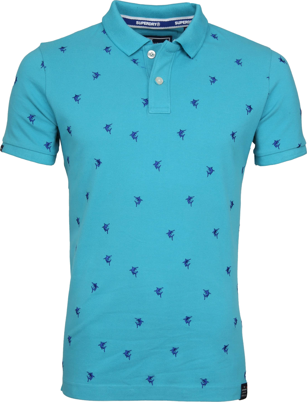 Superdry Poloshirt Bermuda City Turquoise foto 0