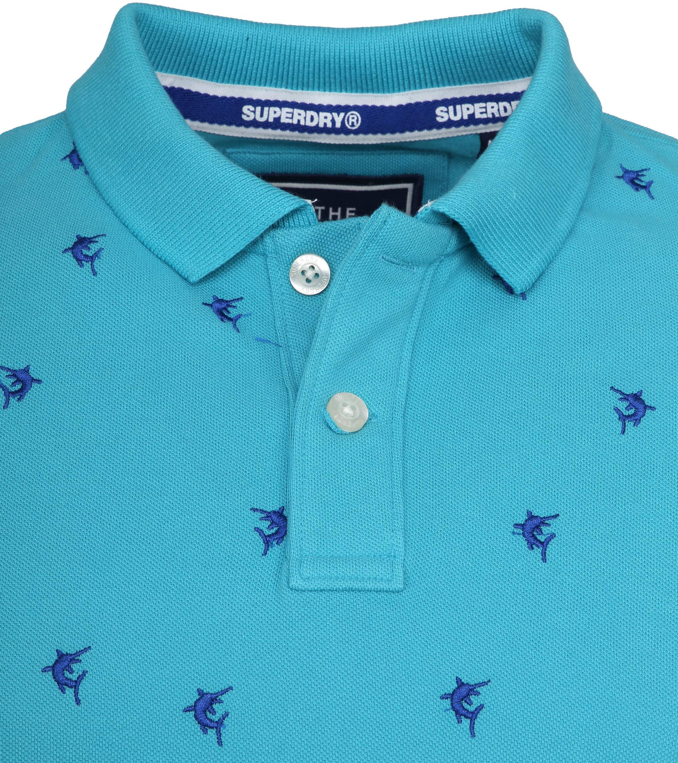 Superdry Poloshirt Bermuda City Turquoise foto 1