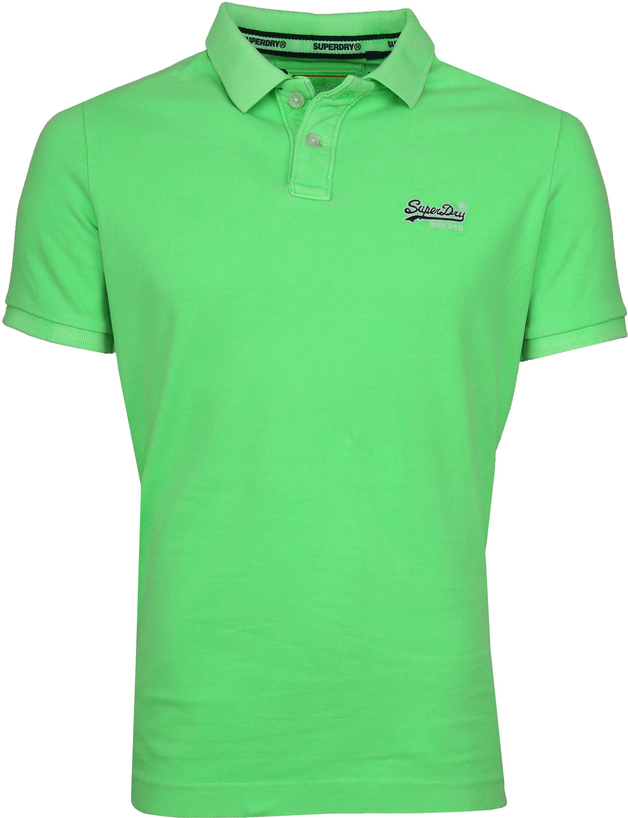 Superdry Poloshirt Fluro Green foto 0