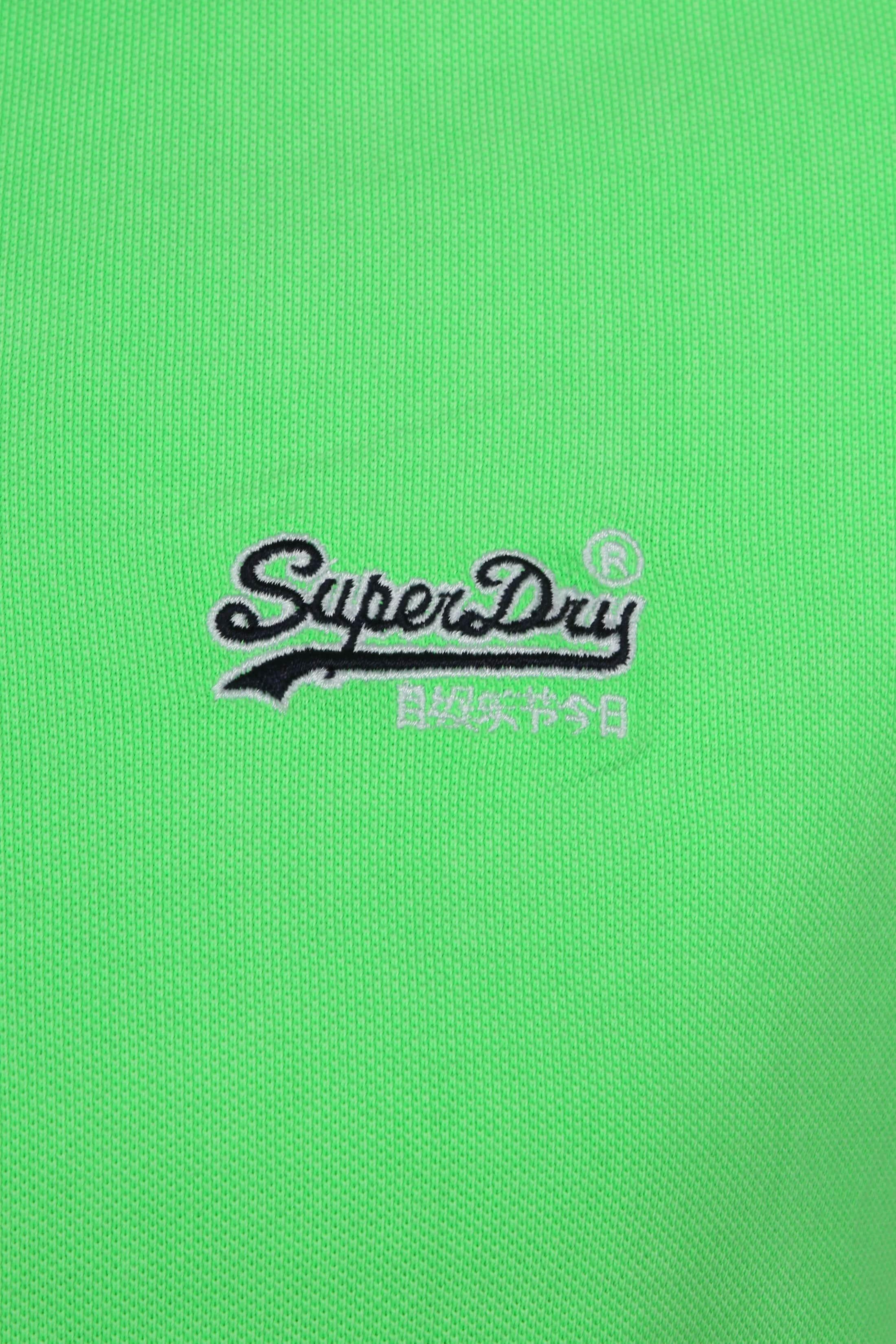 Superdry Poloshirt Fluro Green foto 1