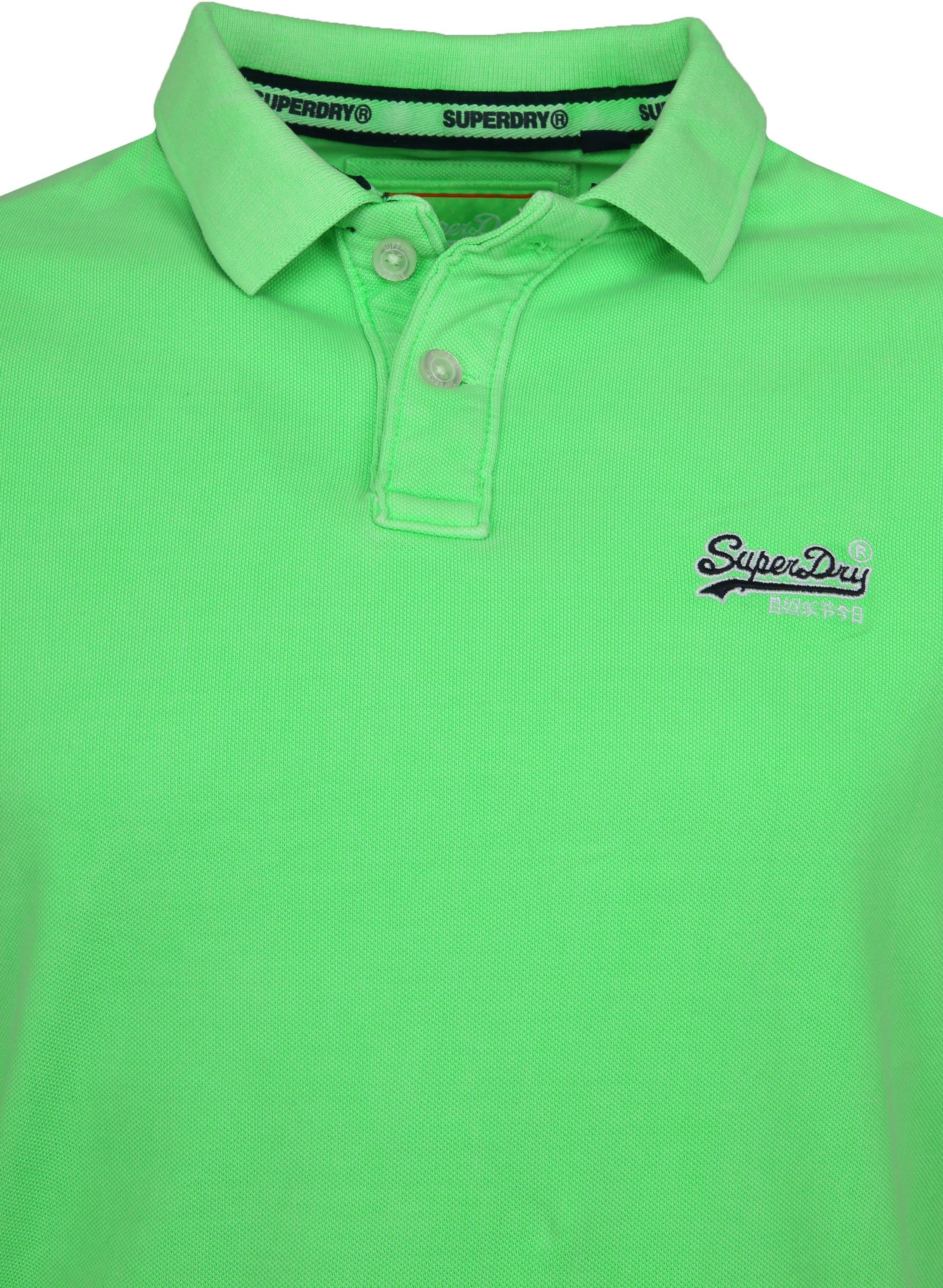 Superdry Poloshirt Fluro Green foto 2