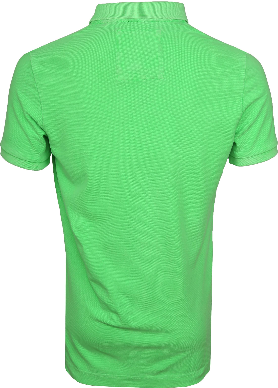 Superdry Poloshirt Fluro Green foto 3