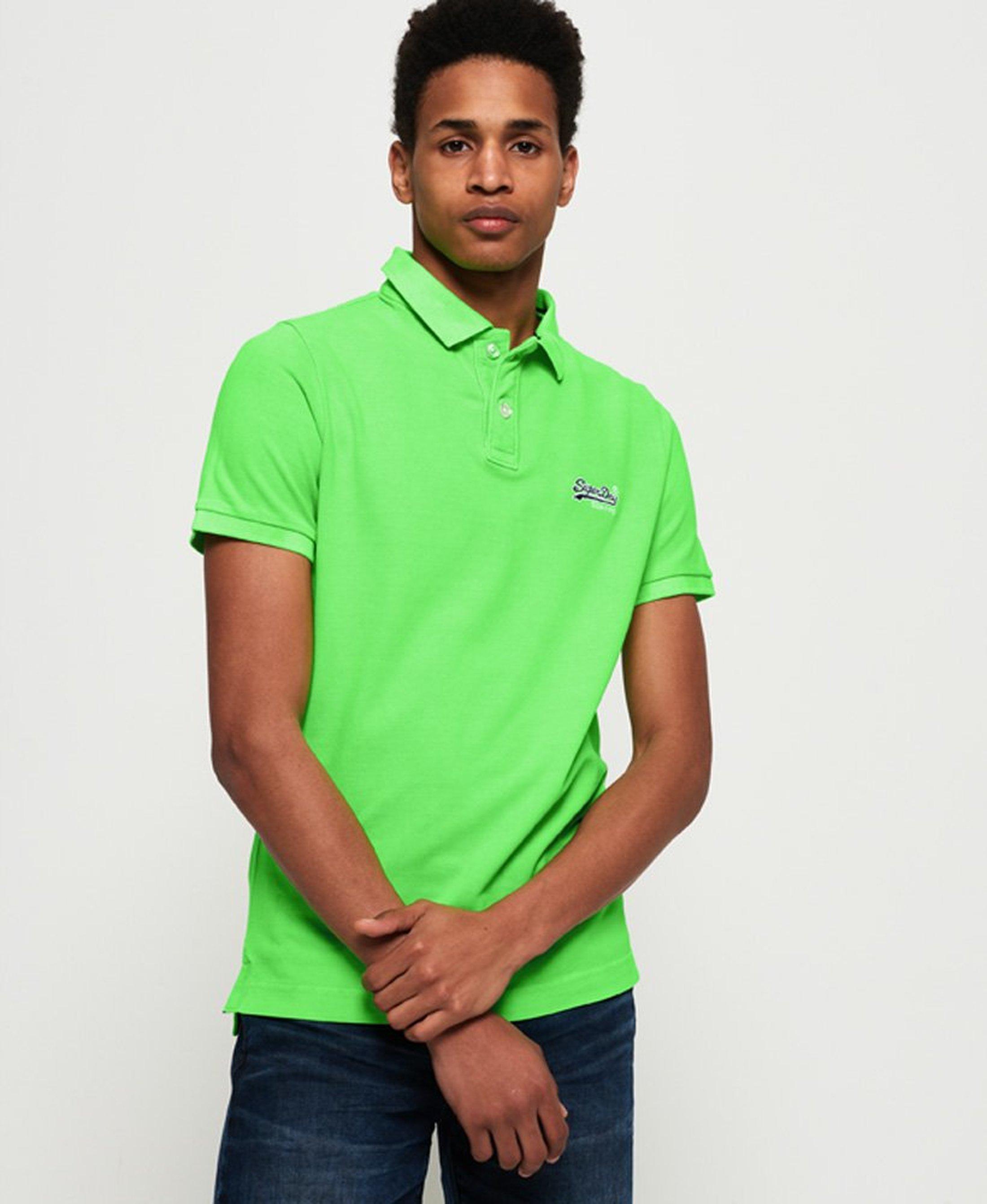 Superdry Poloshirt Fluro Green foto 4