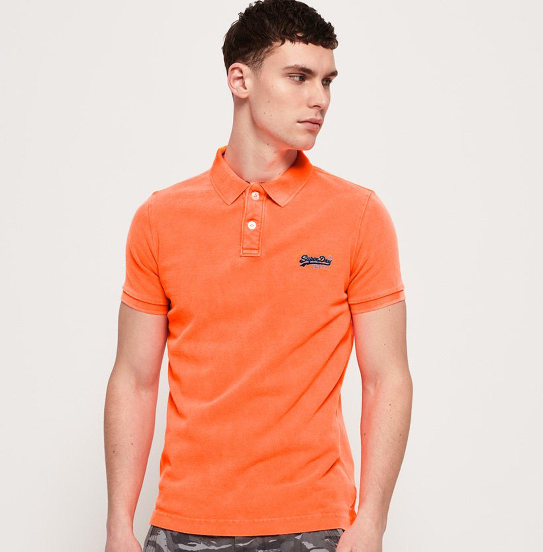 Superdry Poloshirt Fluro Orange foto 4