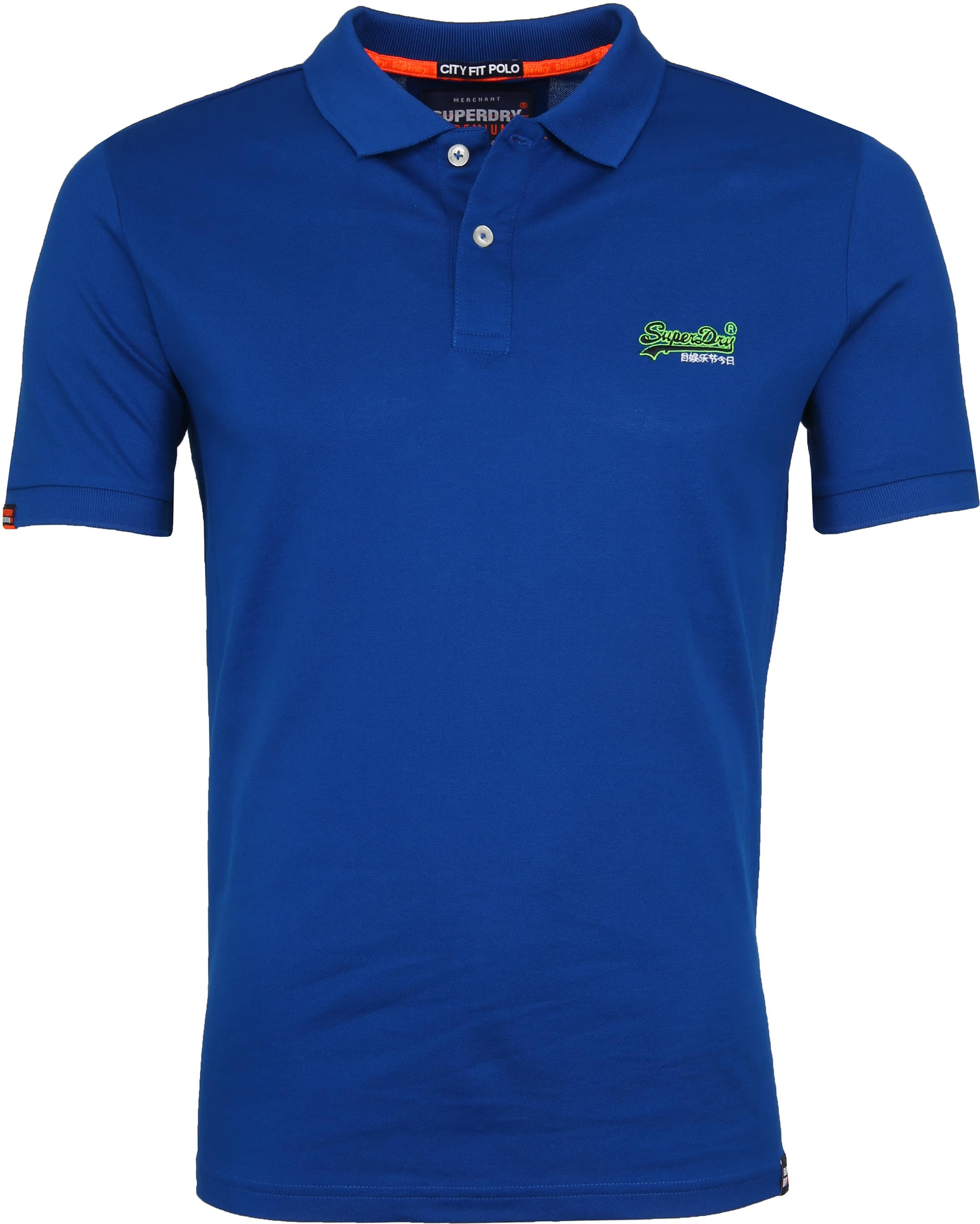 Superdry Poloshirt Mercerised Cobalt Blue foto 0