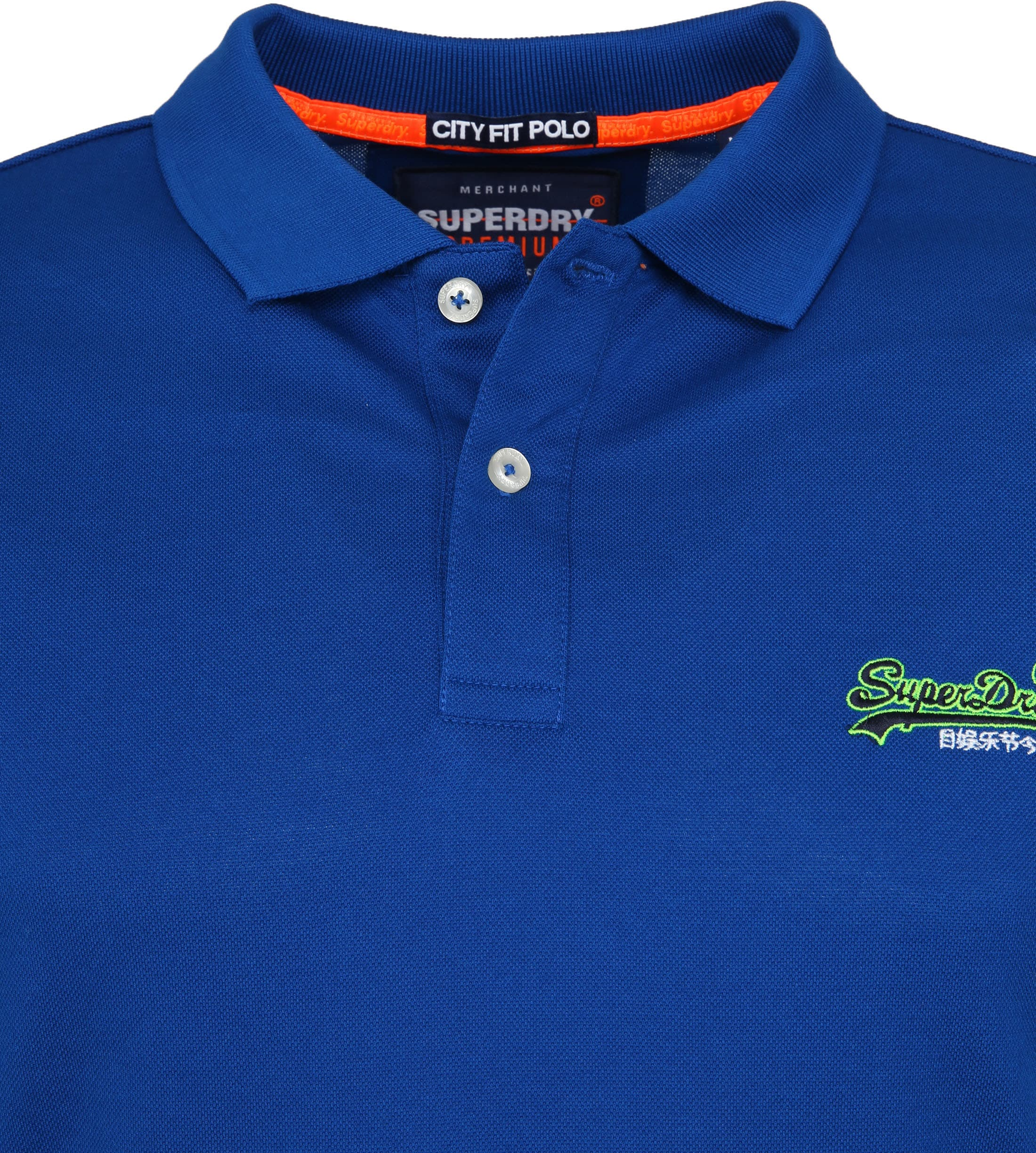 Superdry Poloshirt Mercerised Cobalt Blue foto 1