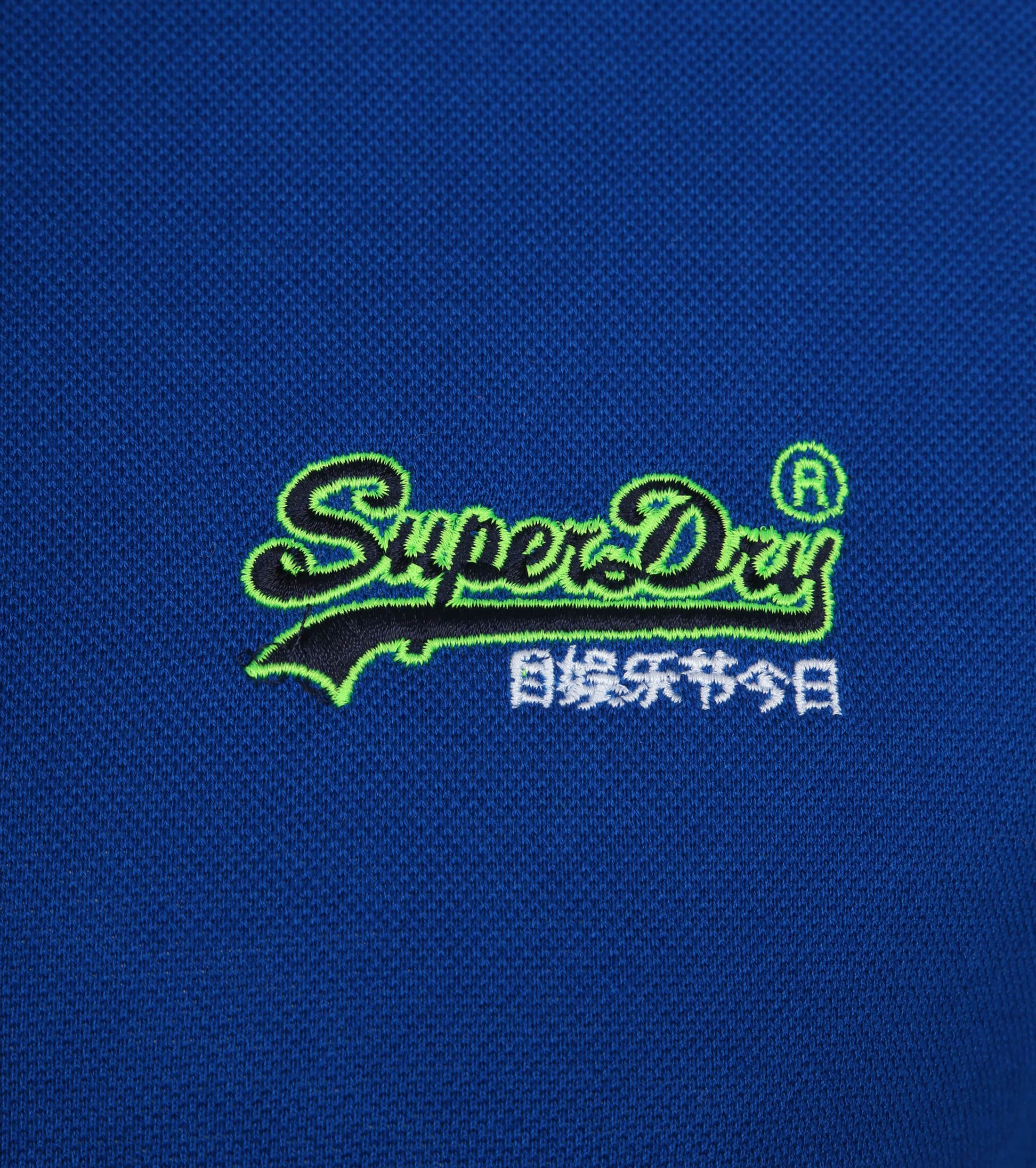 Superdry Poloshirt Mercerised Cobalt Blue foto 2