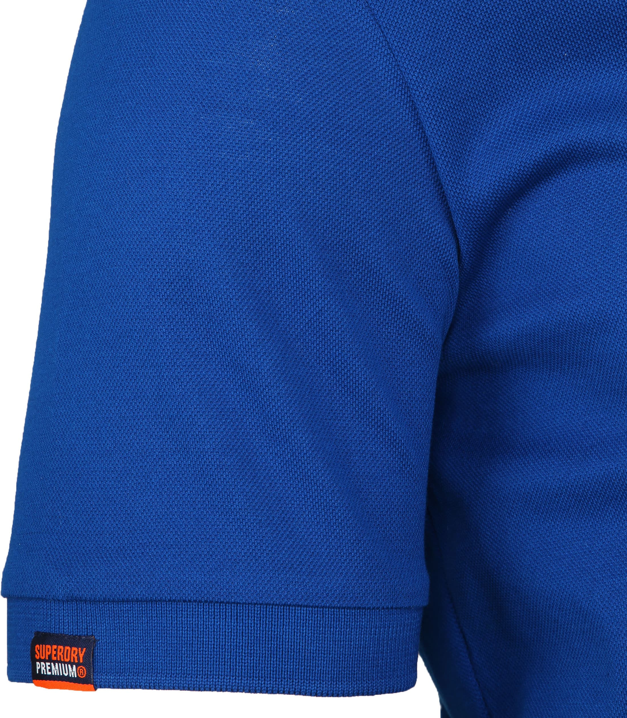 Superdry Poloshirt Mercerised Cobalt Blue foto 3
