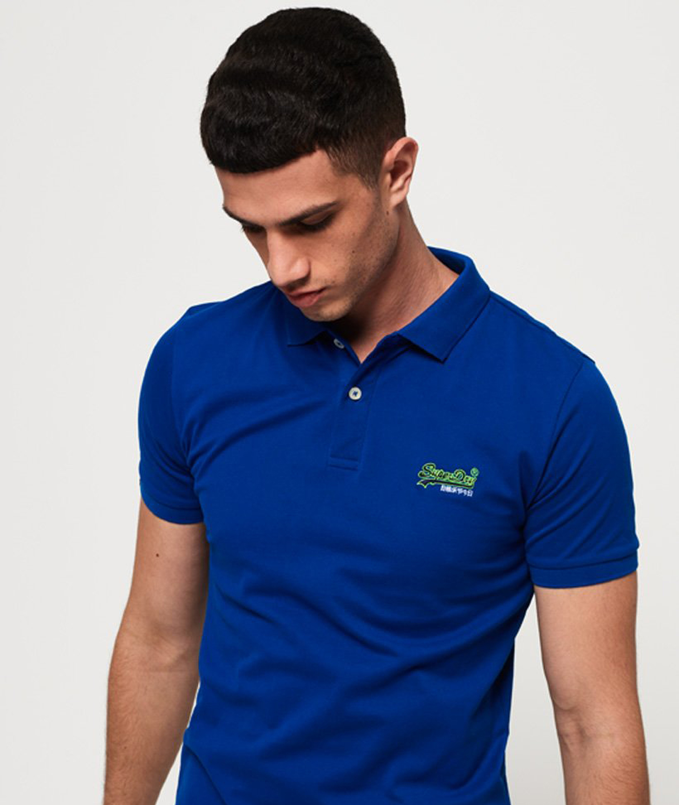 Superdry Poloshirt Mercerised Cobalt Blue foto 5