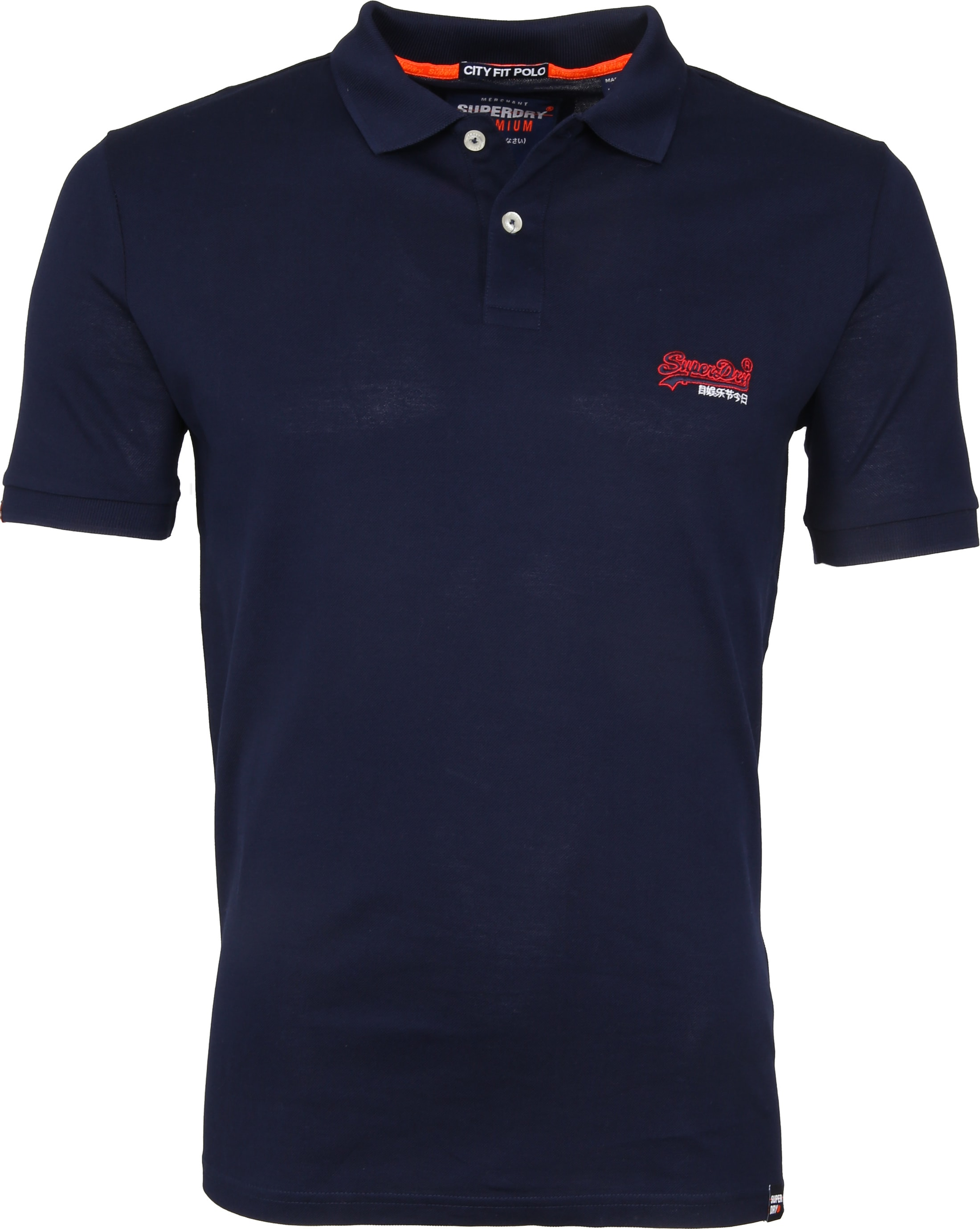Superdry Poloshirt Mercerised Lite City Navy foto 0