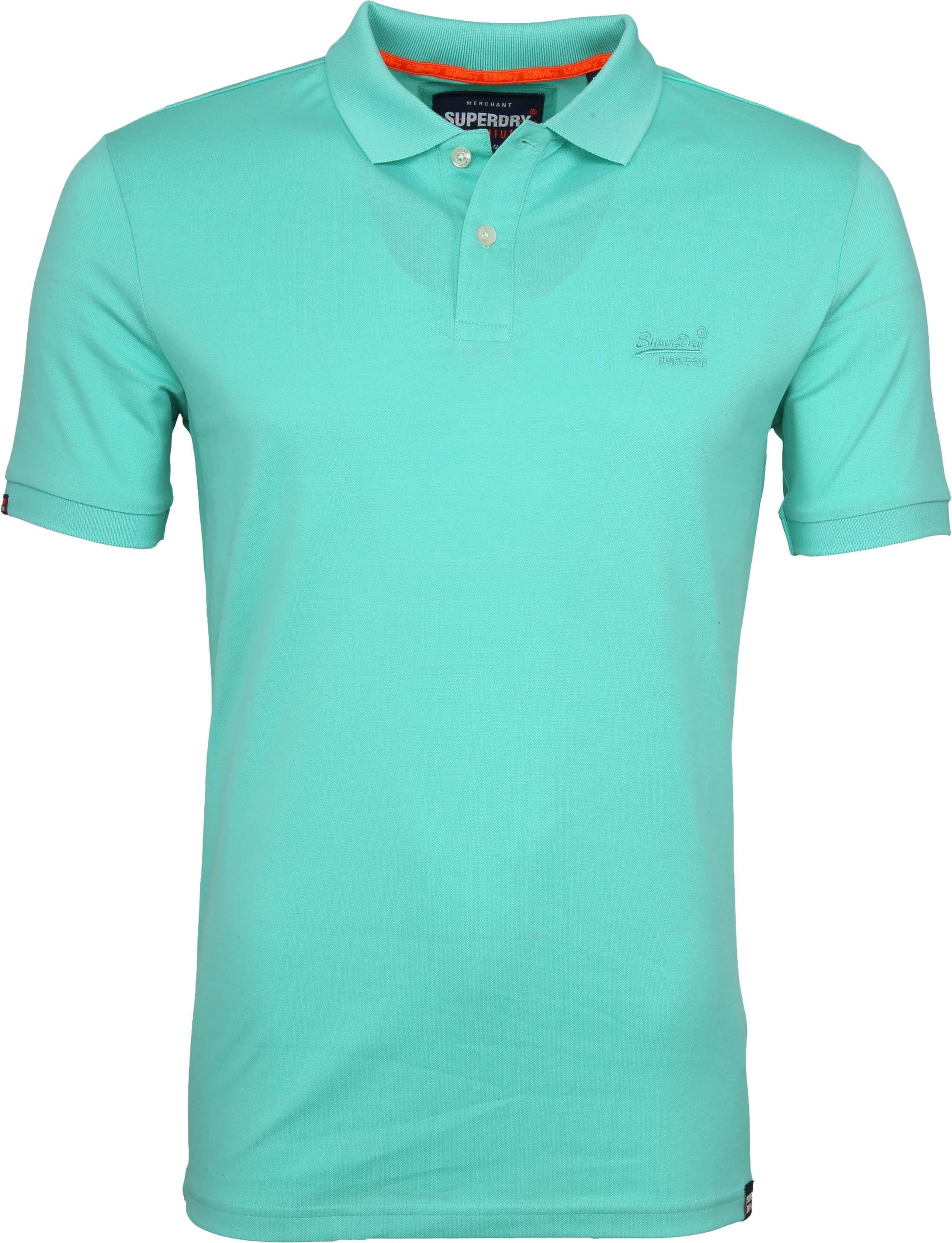 Superdry Poloshirt Premium Turquoise foto 0