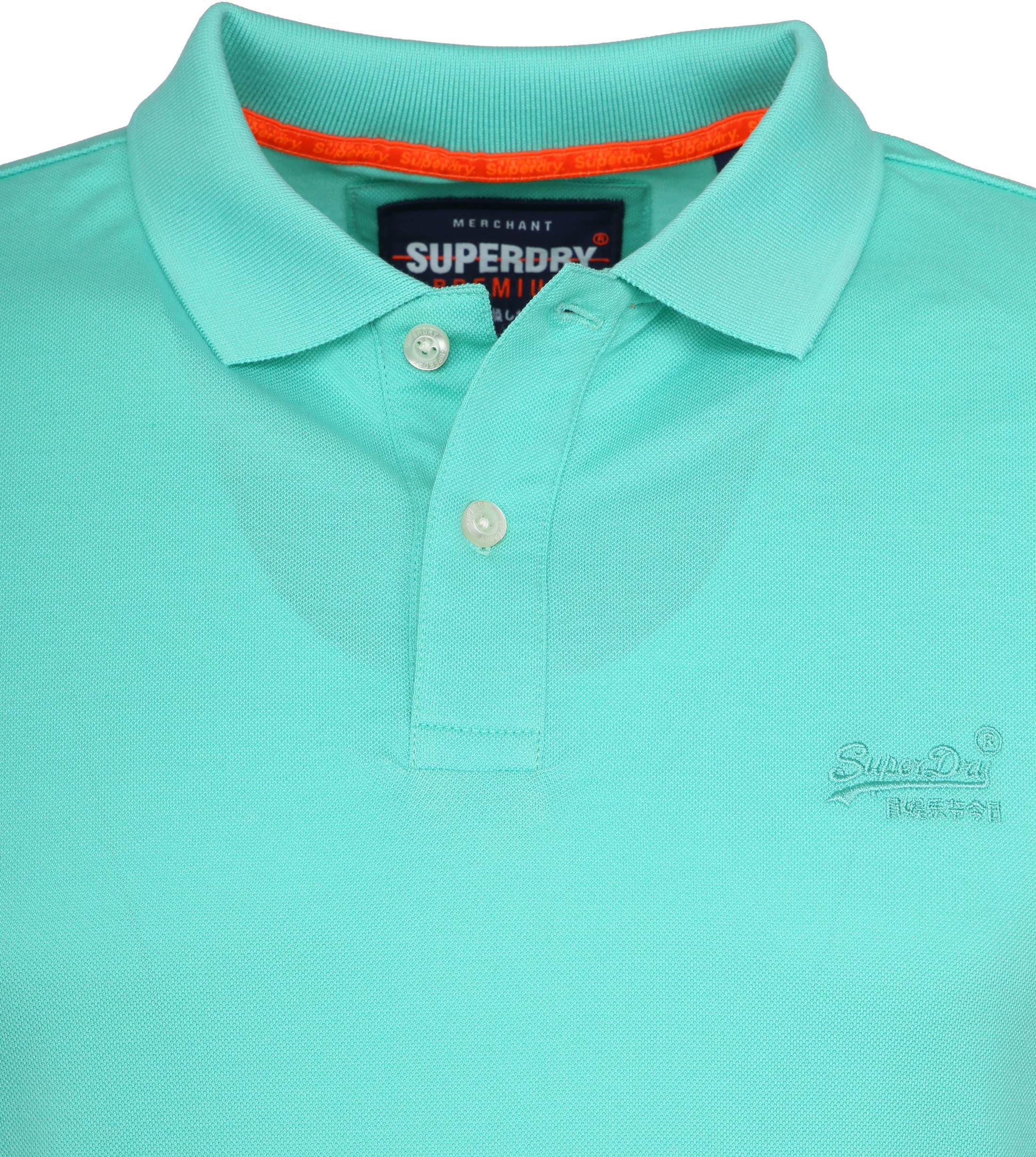 Superdry Poloshirt Premium Turquoise foto 1