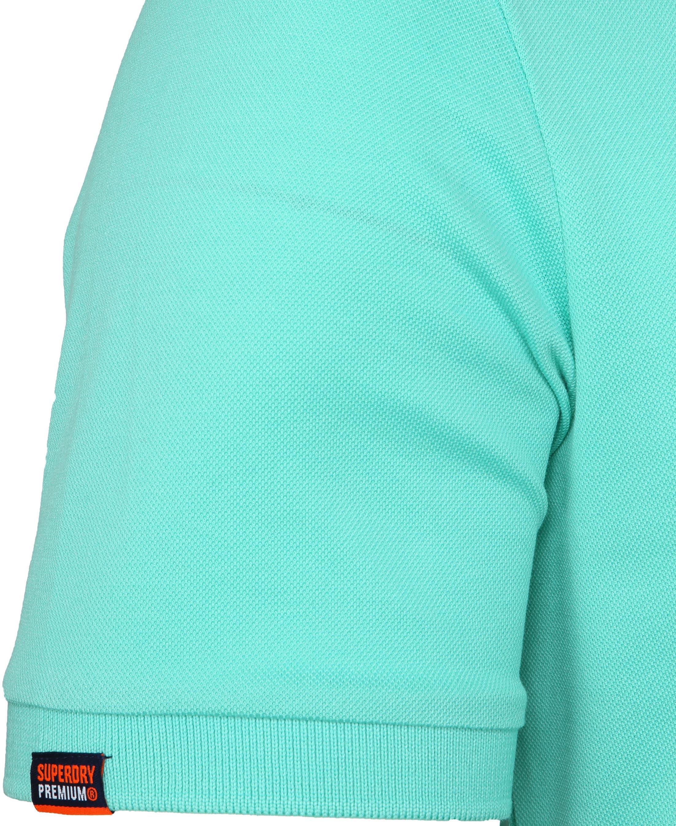 Superdry Poloshirt Premium Turquoise foto 4