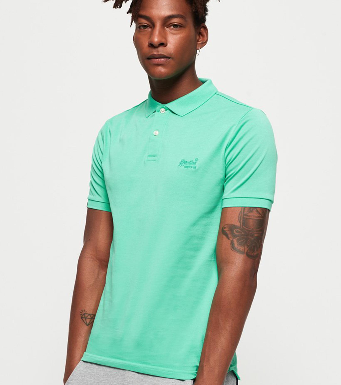 Superdry Poloshirt Premium Turquoise foto 5