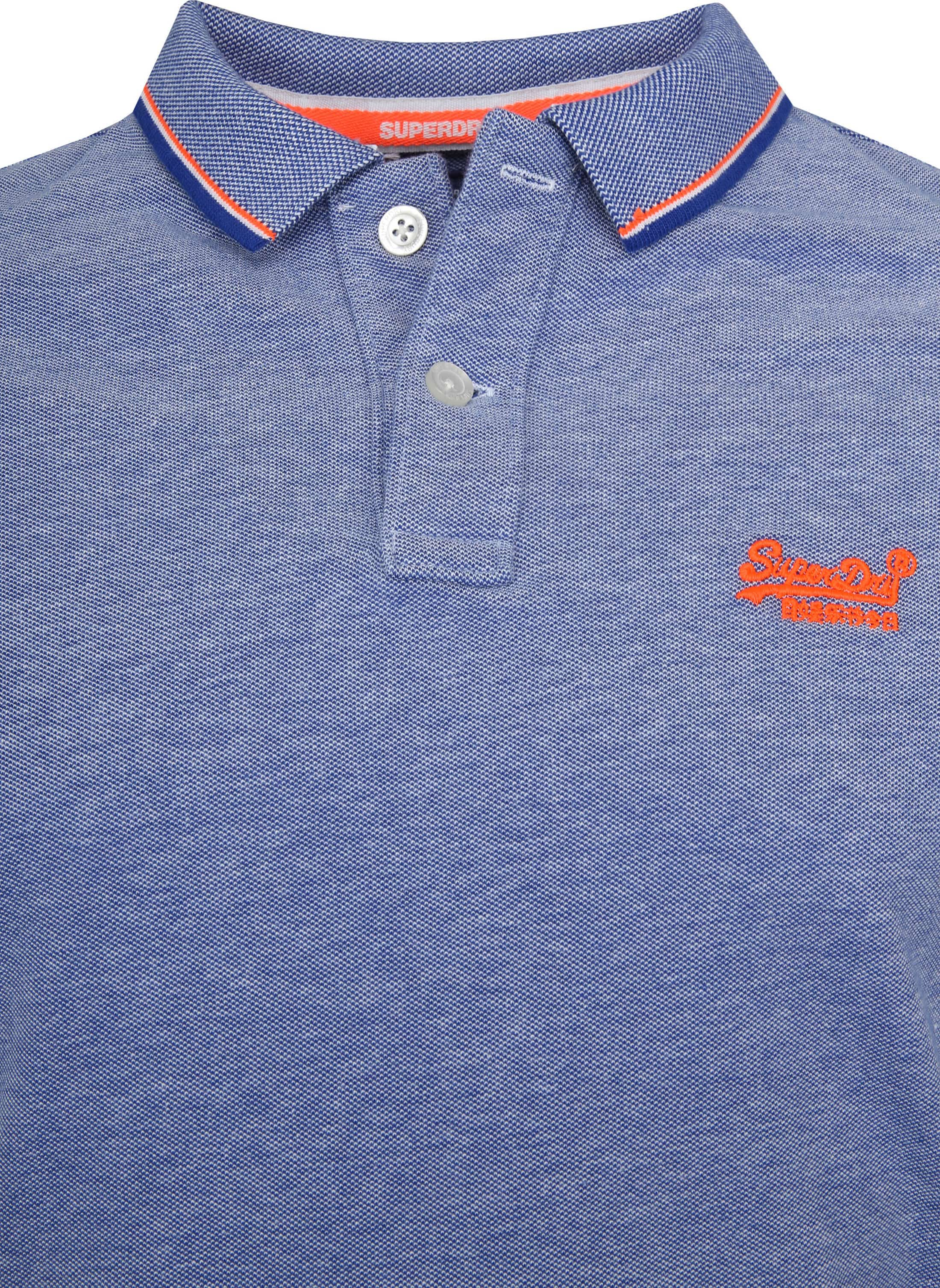 Superdry Premium Polo Blue foto 1