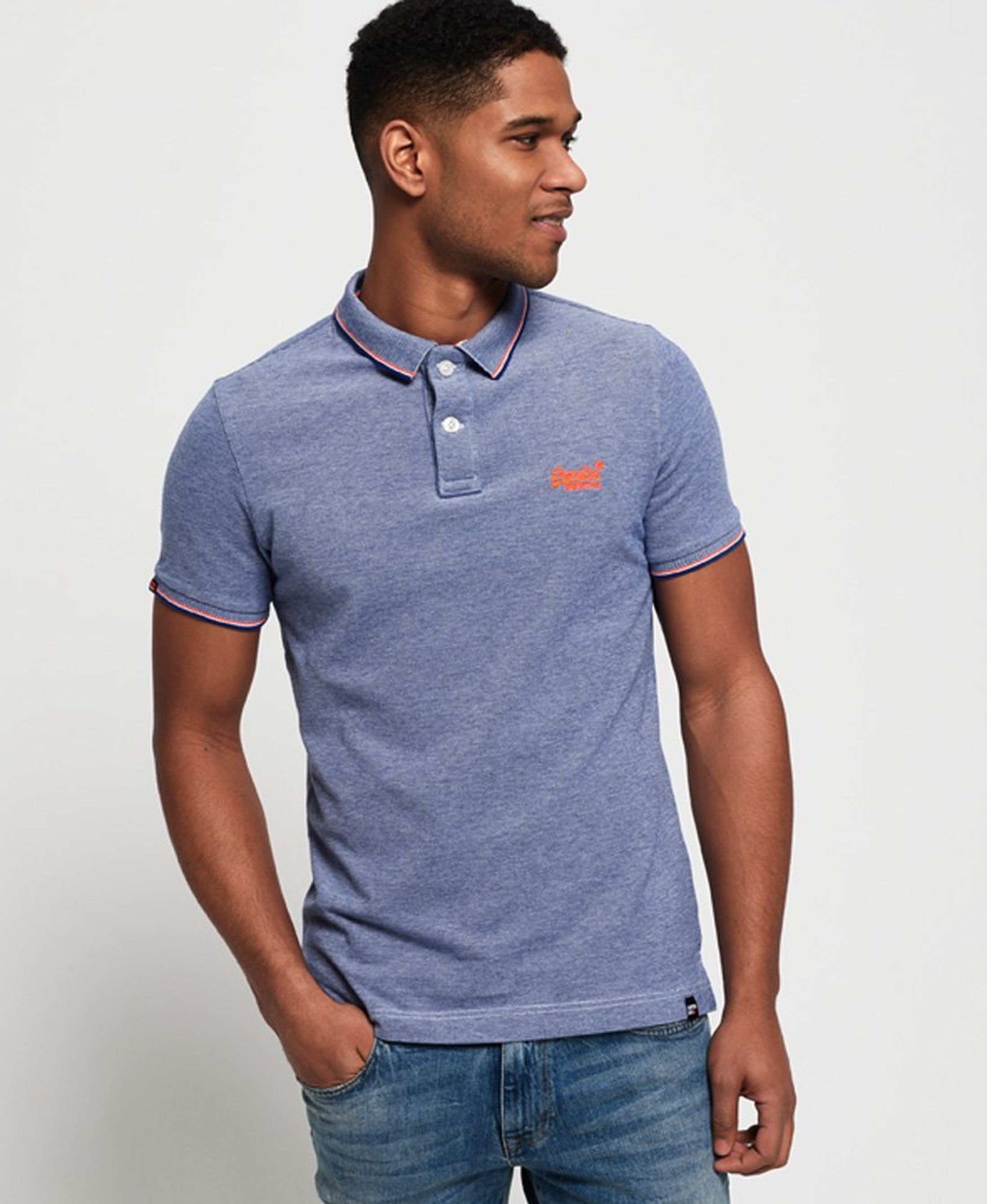 Superdry Premium Polo Blue foto 5