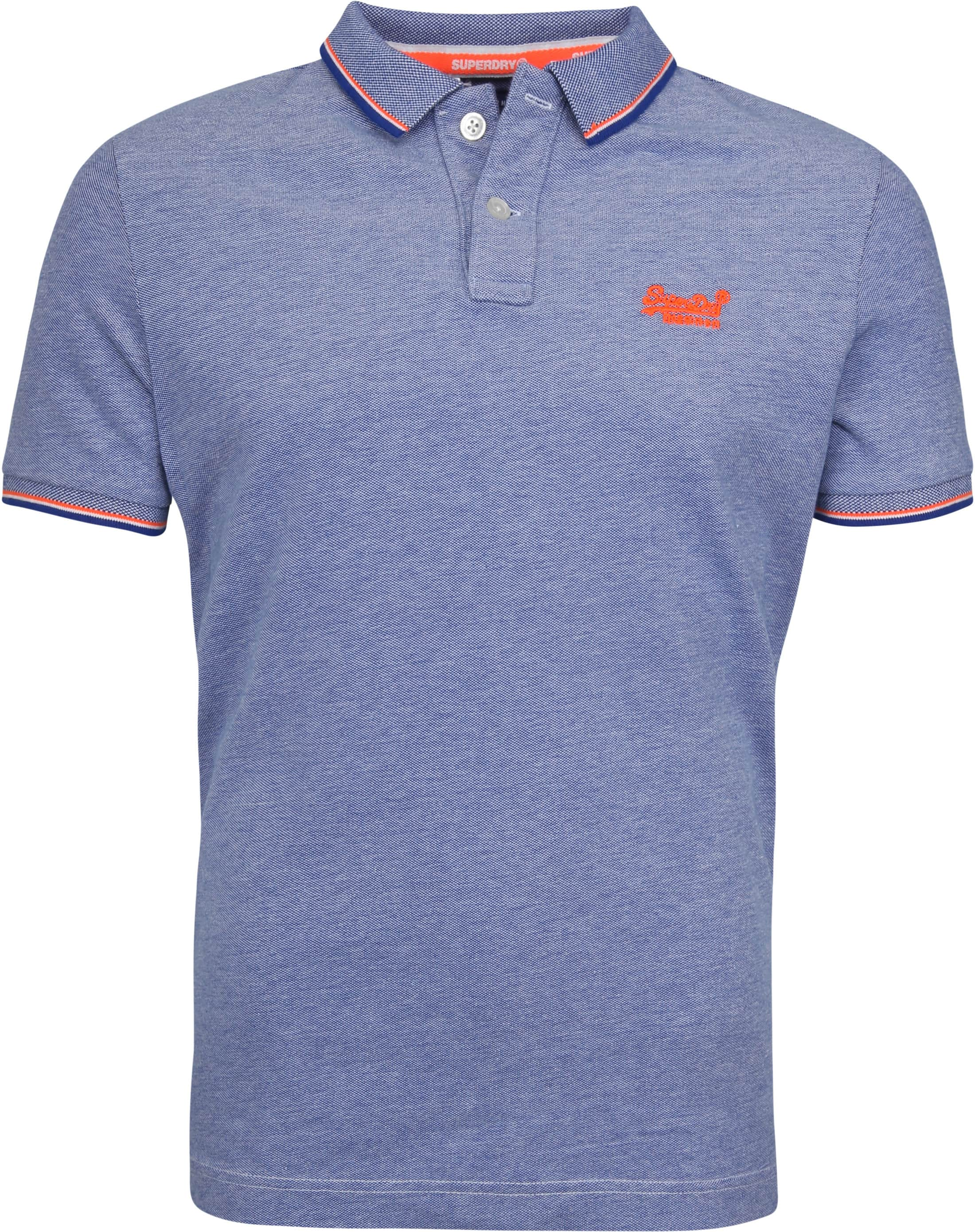 online store 40d6f be78d Superdry Premium Poloshirt Blau M11007ET-J37 online kaufen ...