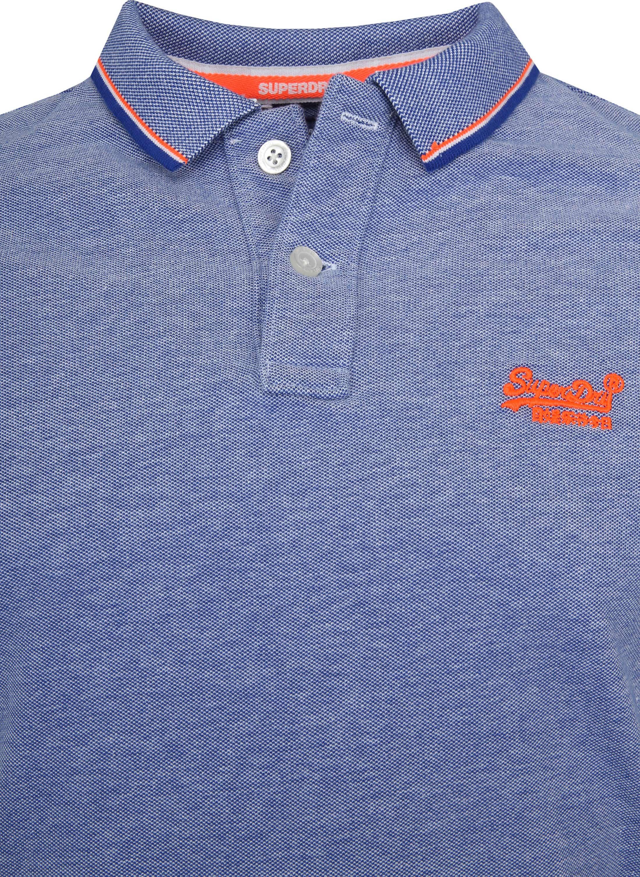 Superdry Premium Poloshirt Blau foto 1