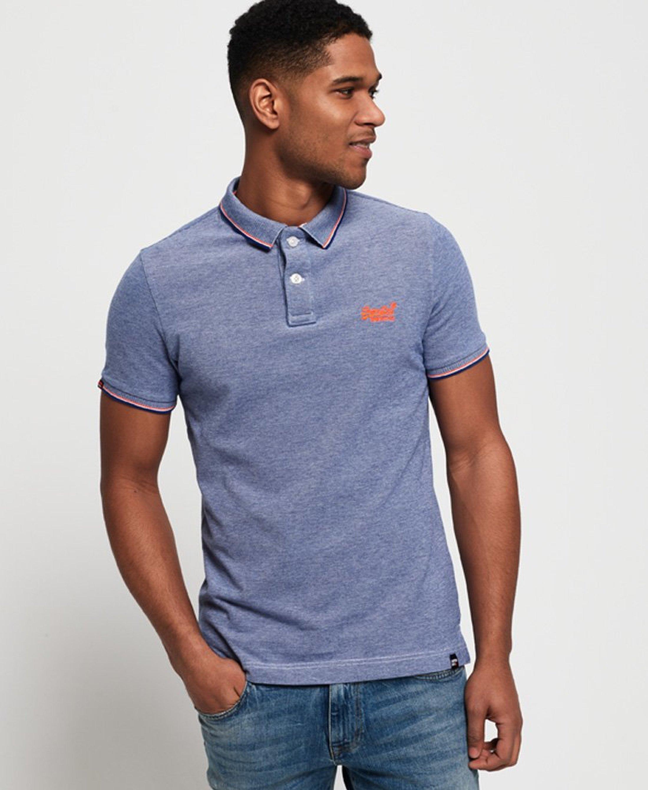 Superdry Premium Poloshirt Blau foto 5