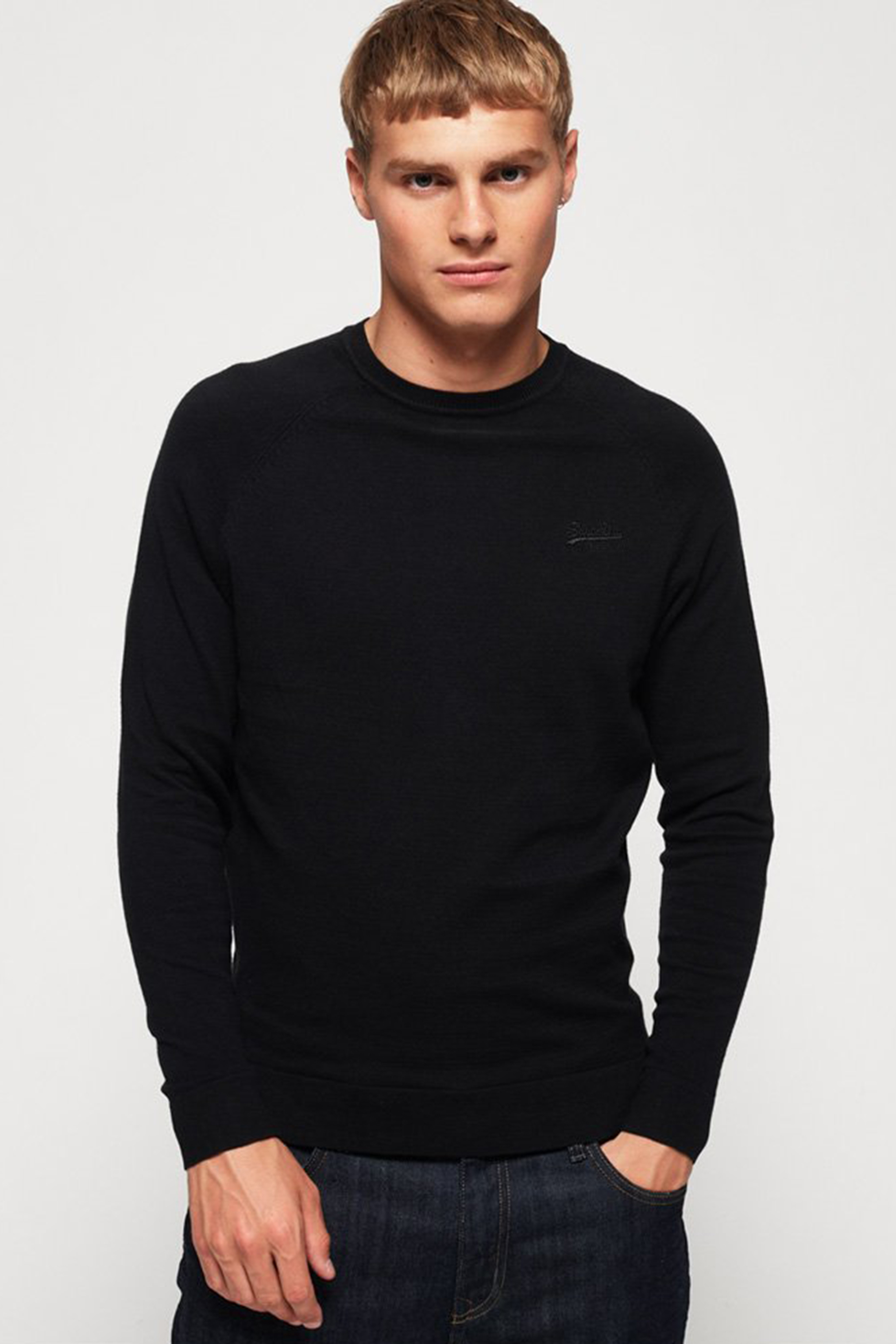 Superdry Pullover Cotton Crew Black foto 4