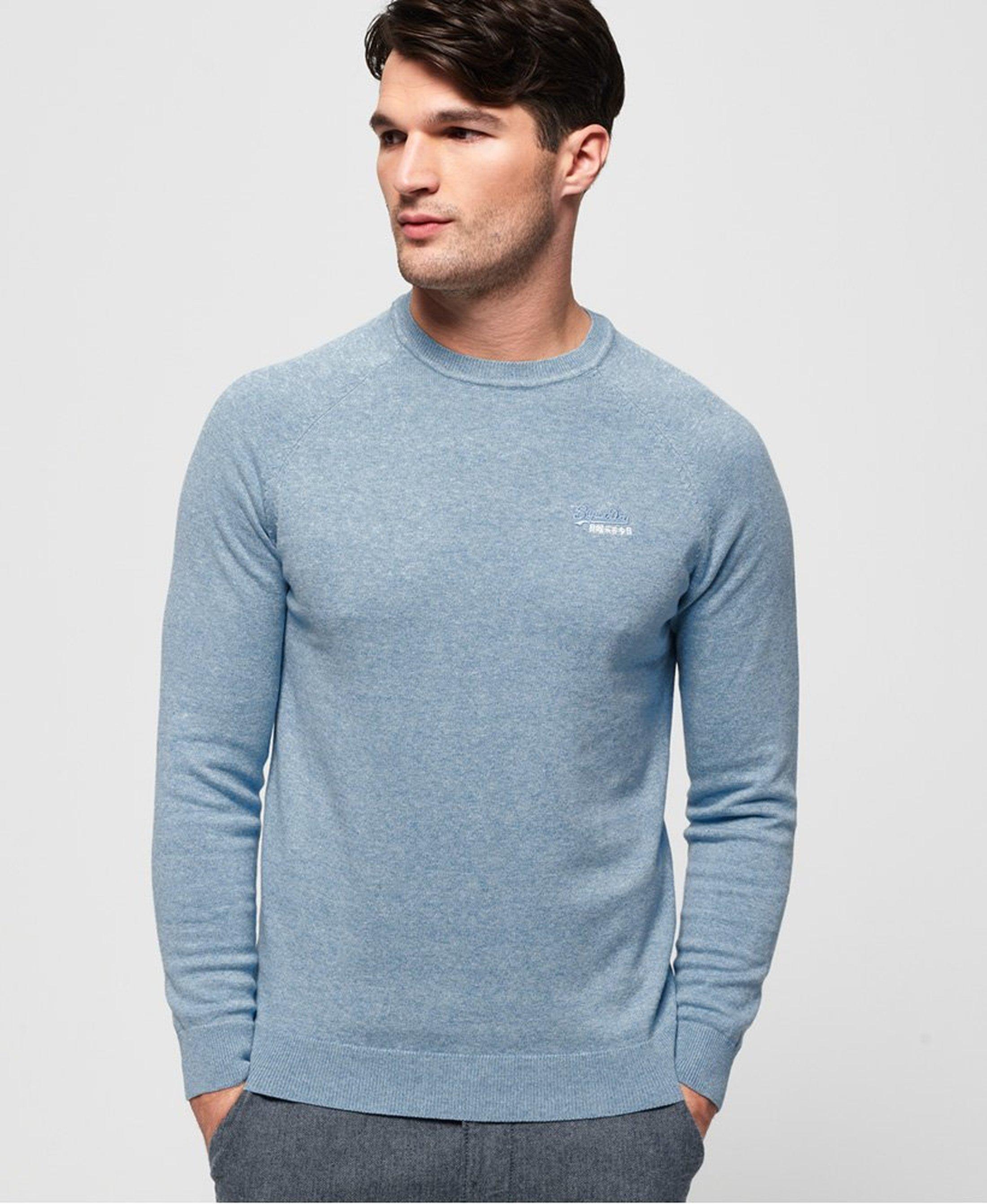 Superdry Pullover Melange Lichtblauw foto 3