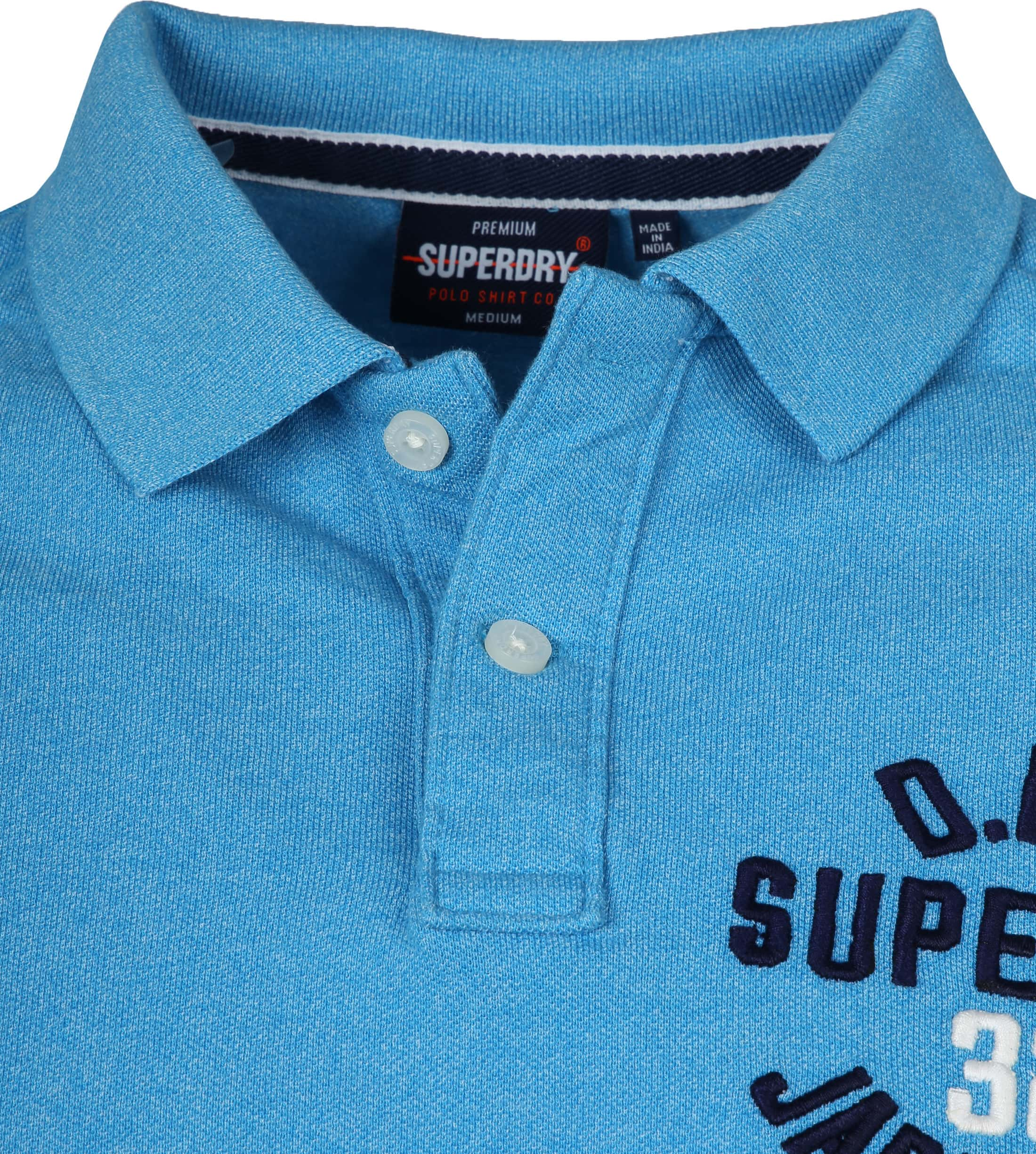 Superdry Superstate Polo Blauw