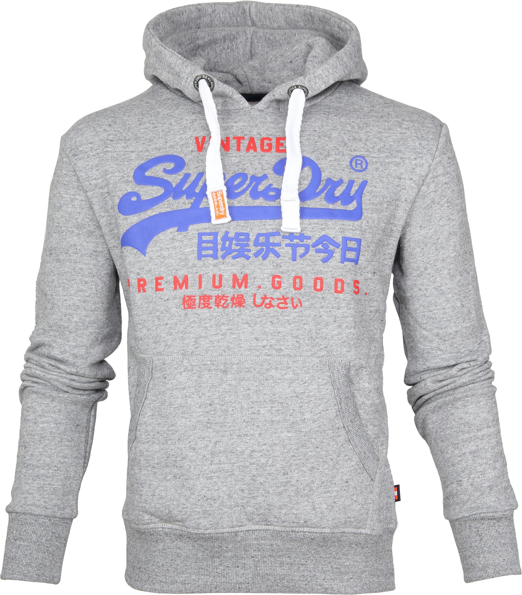 Superdry Sweater Duo Hood Grijs foto 0