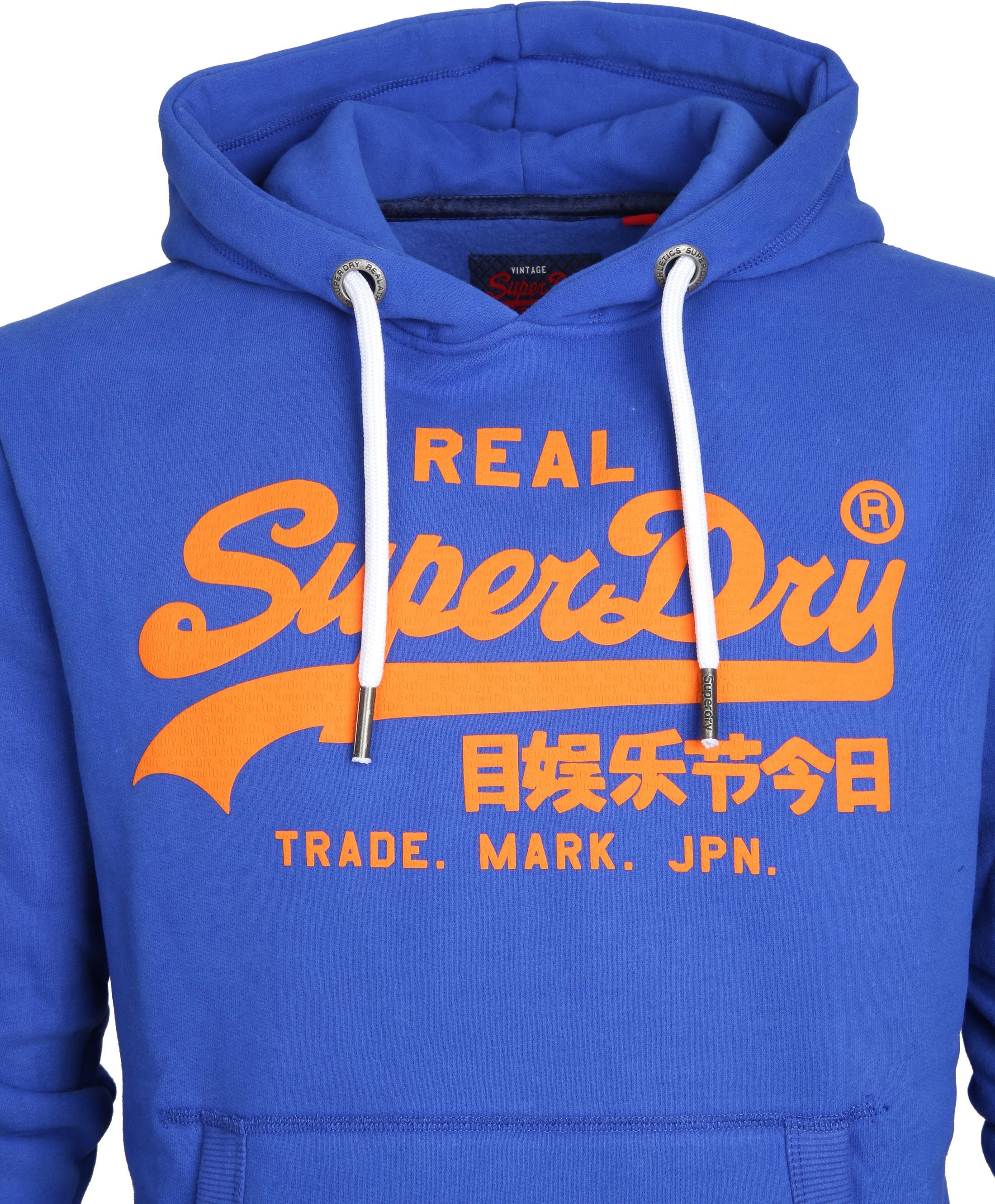 Superdry Sweater Logo Kobaltblauw foto 2