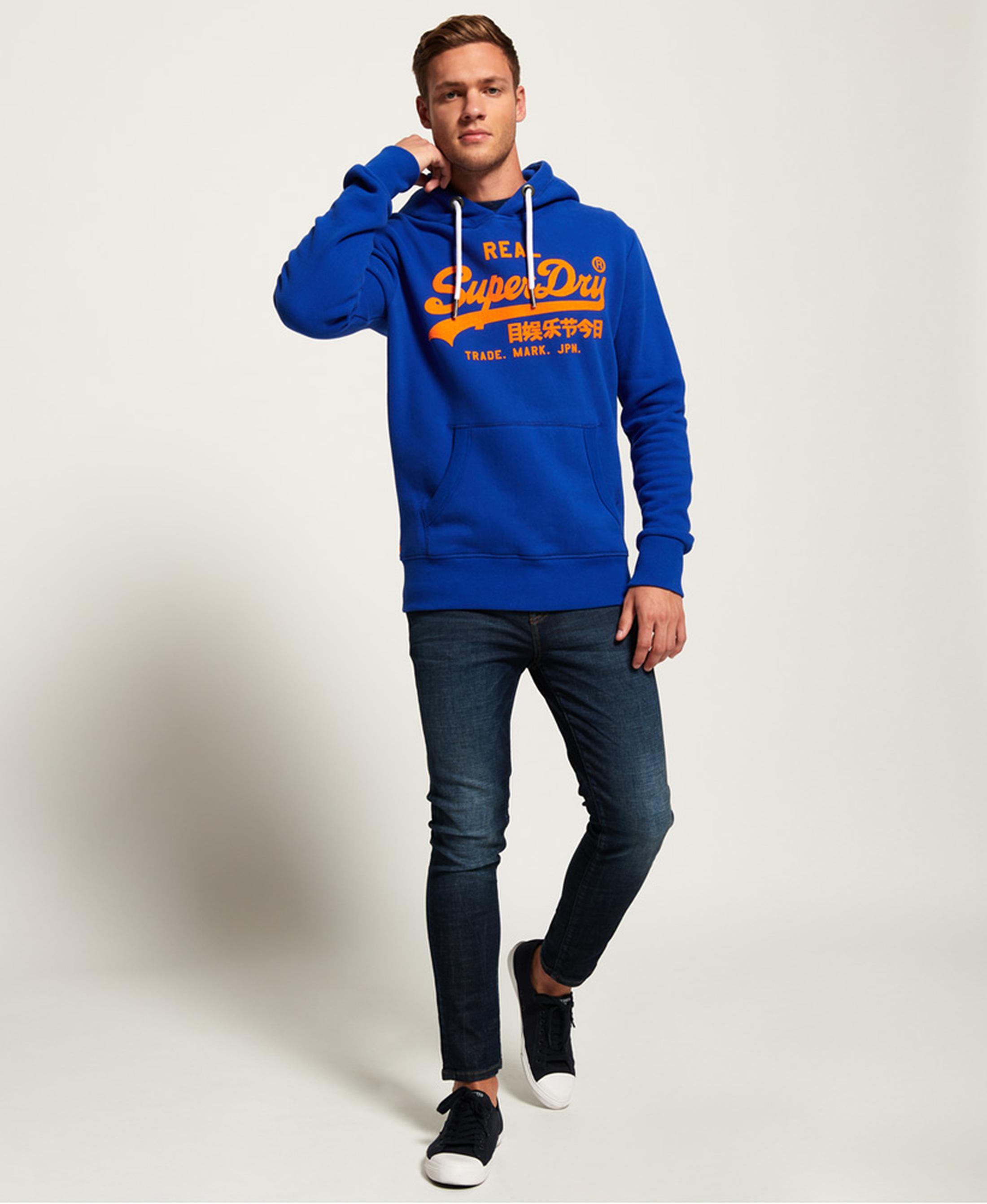 Superdry Sweater Logo Kobaltblauw foto 4