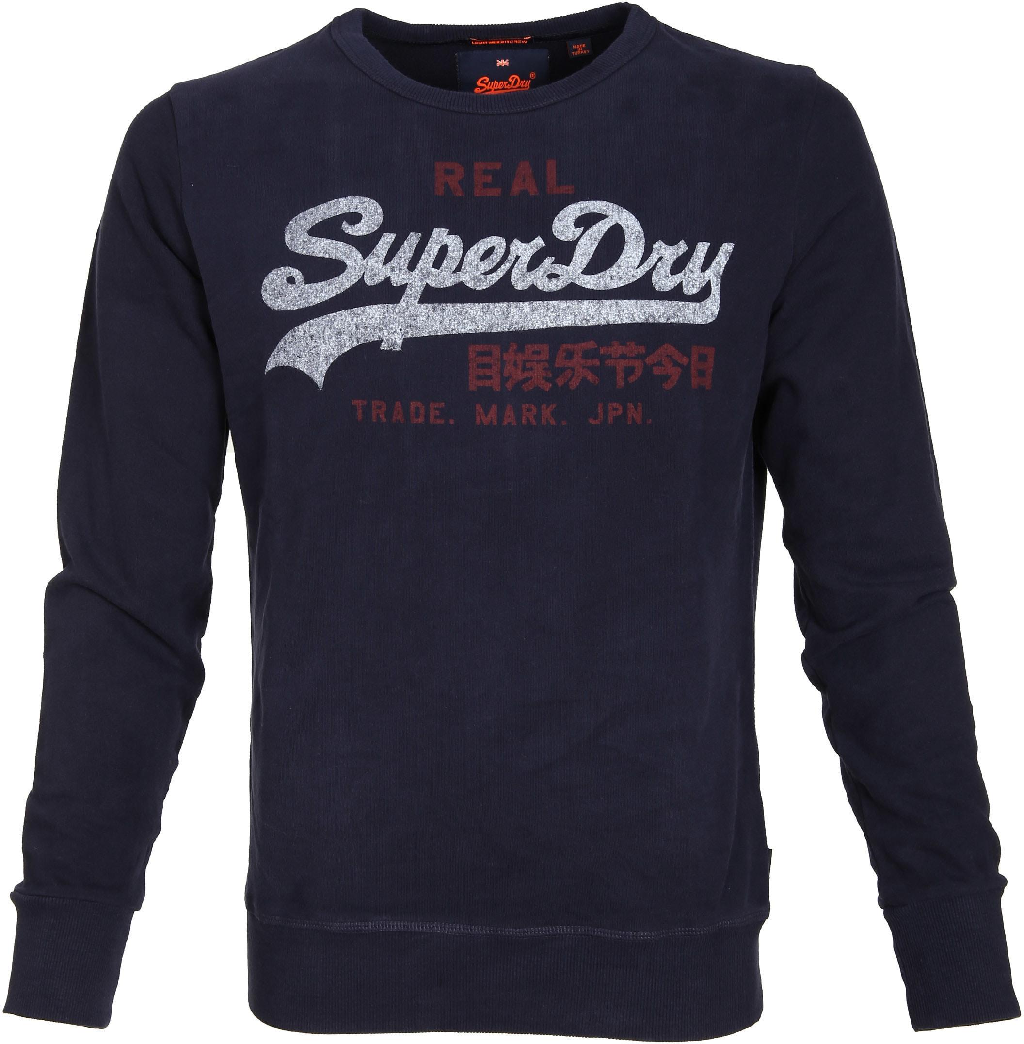 Superdry Sweater Logo Navy foto 0
