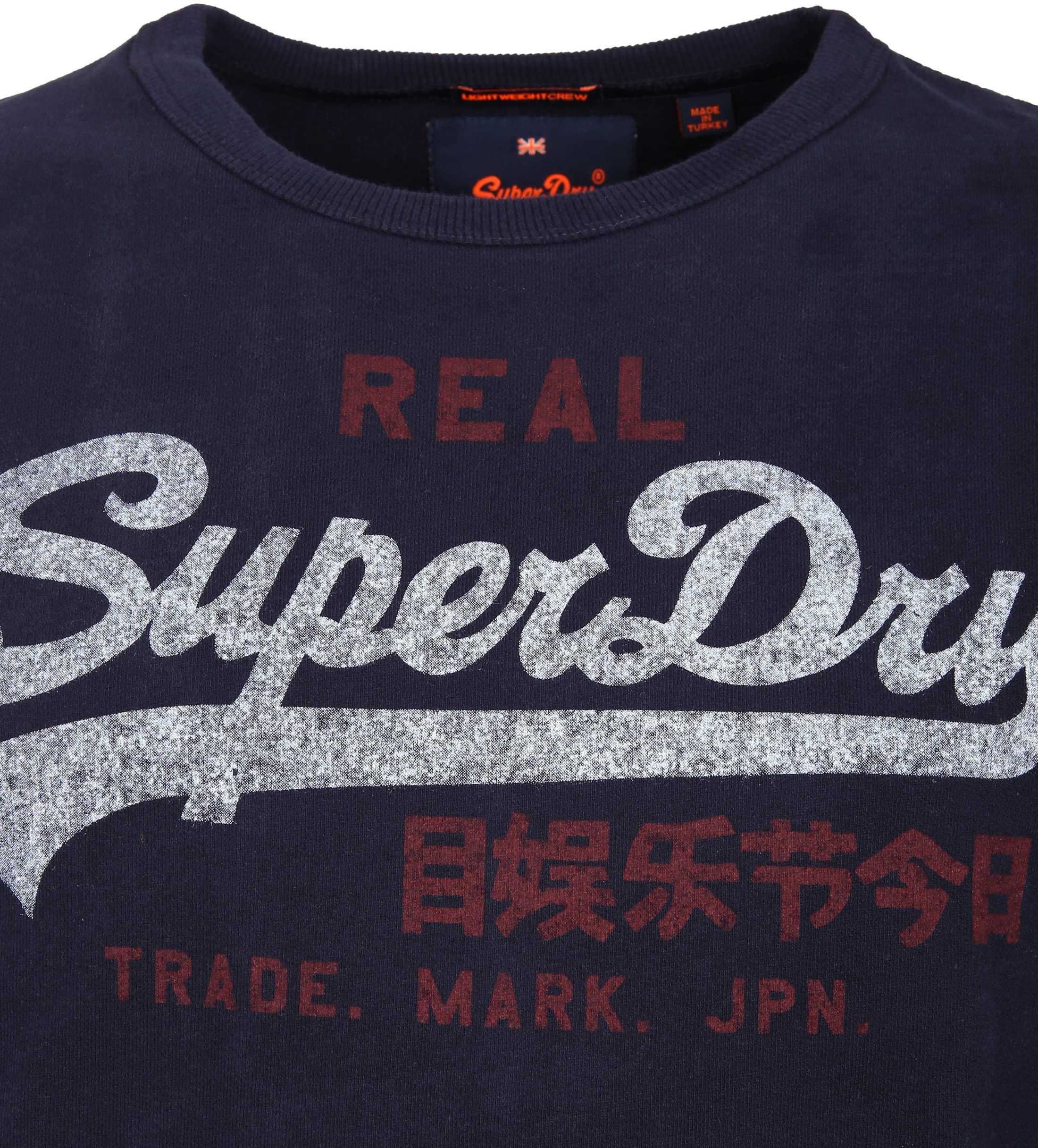 Superdry Sweater Logo Navy foto 1