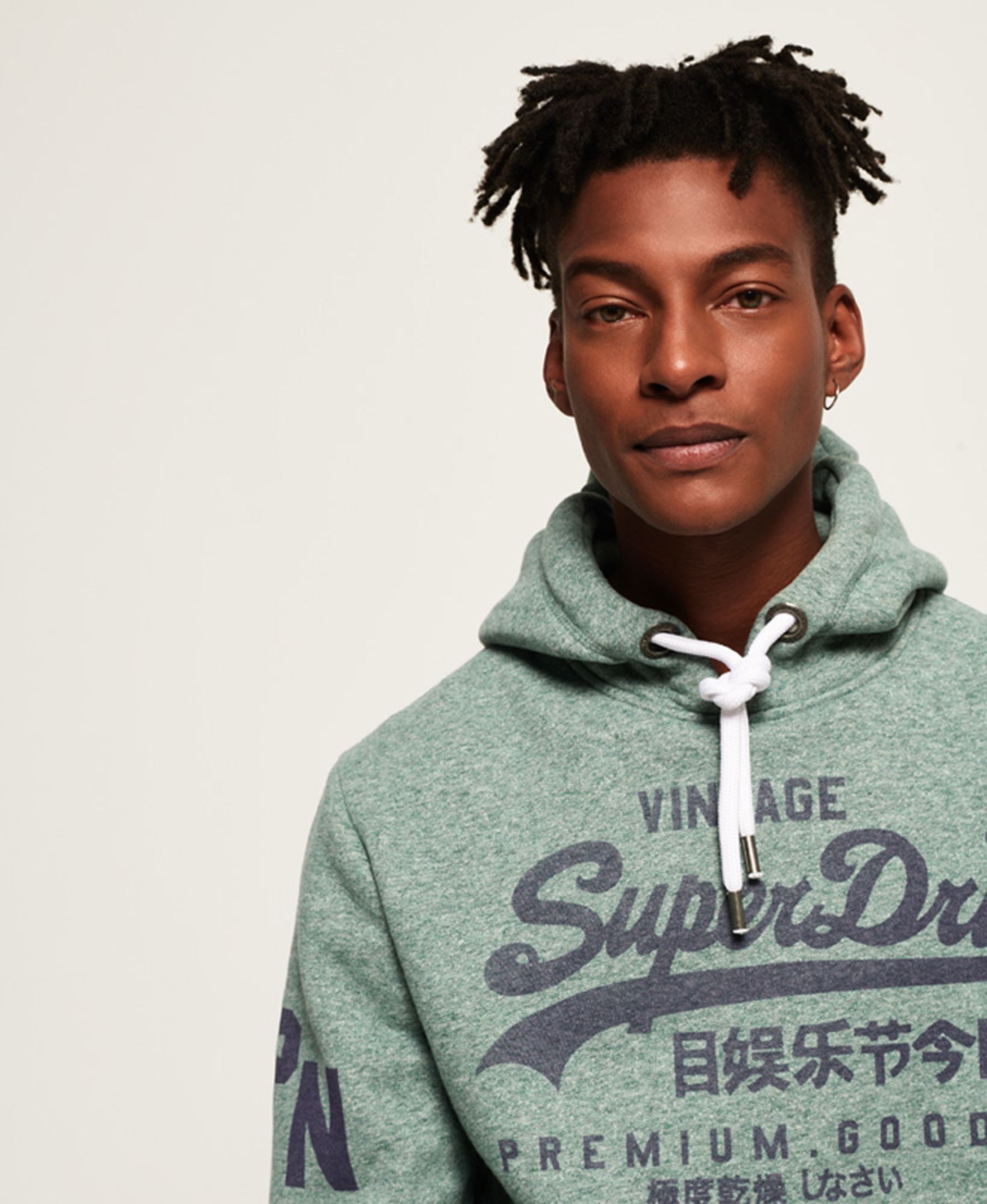Superdry Sweater Logo Vintage Groen foto 6