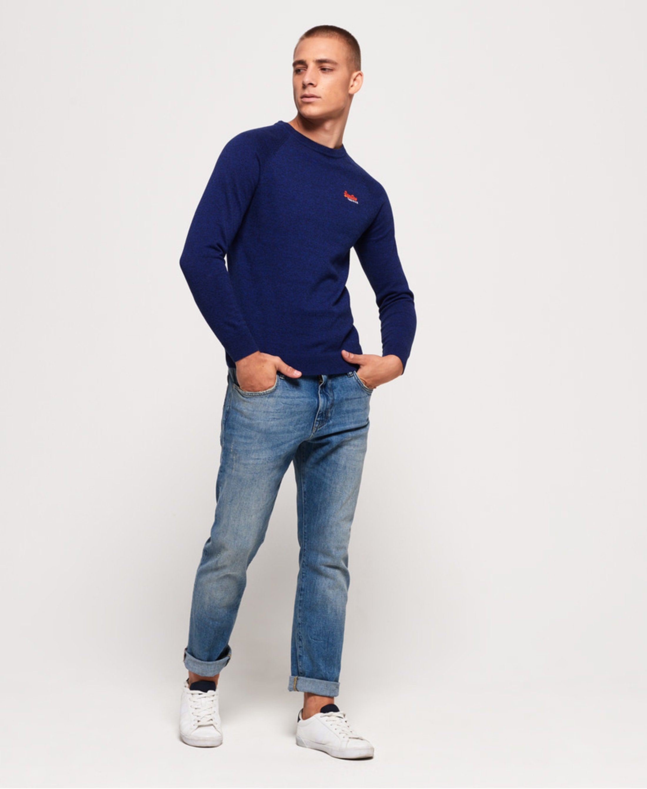 Superdry Sweater Melange Blue foto 2