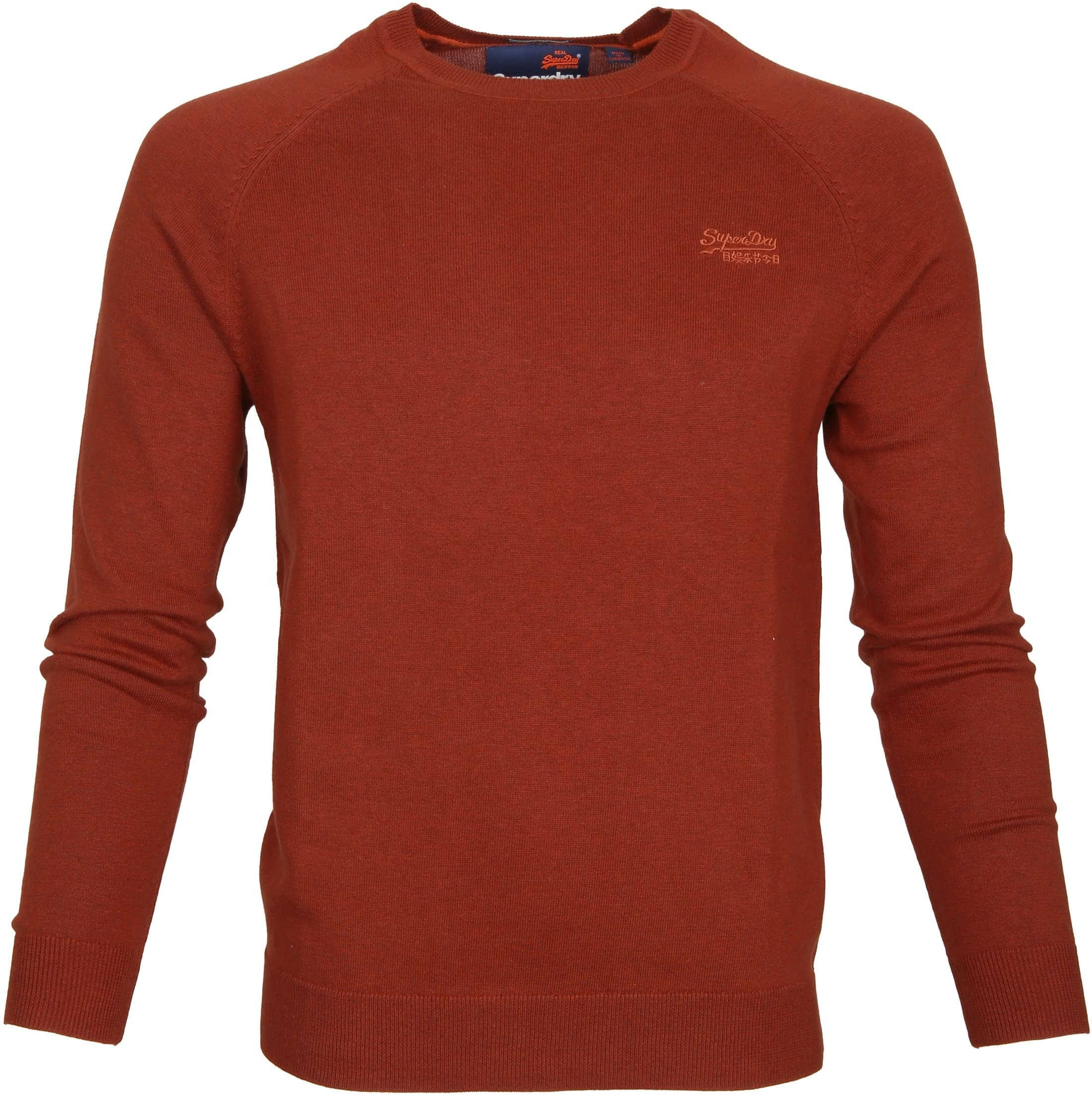 Superdry Sweater Melange Red Orange foto 0