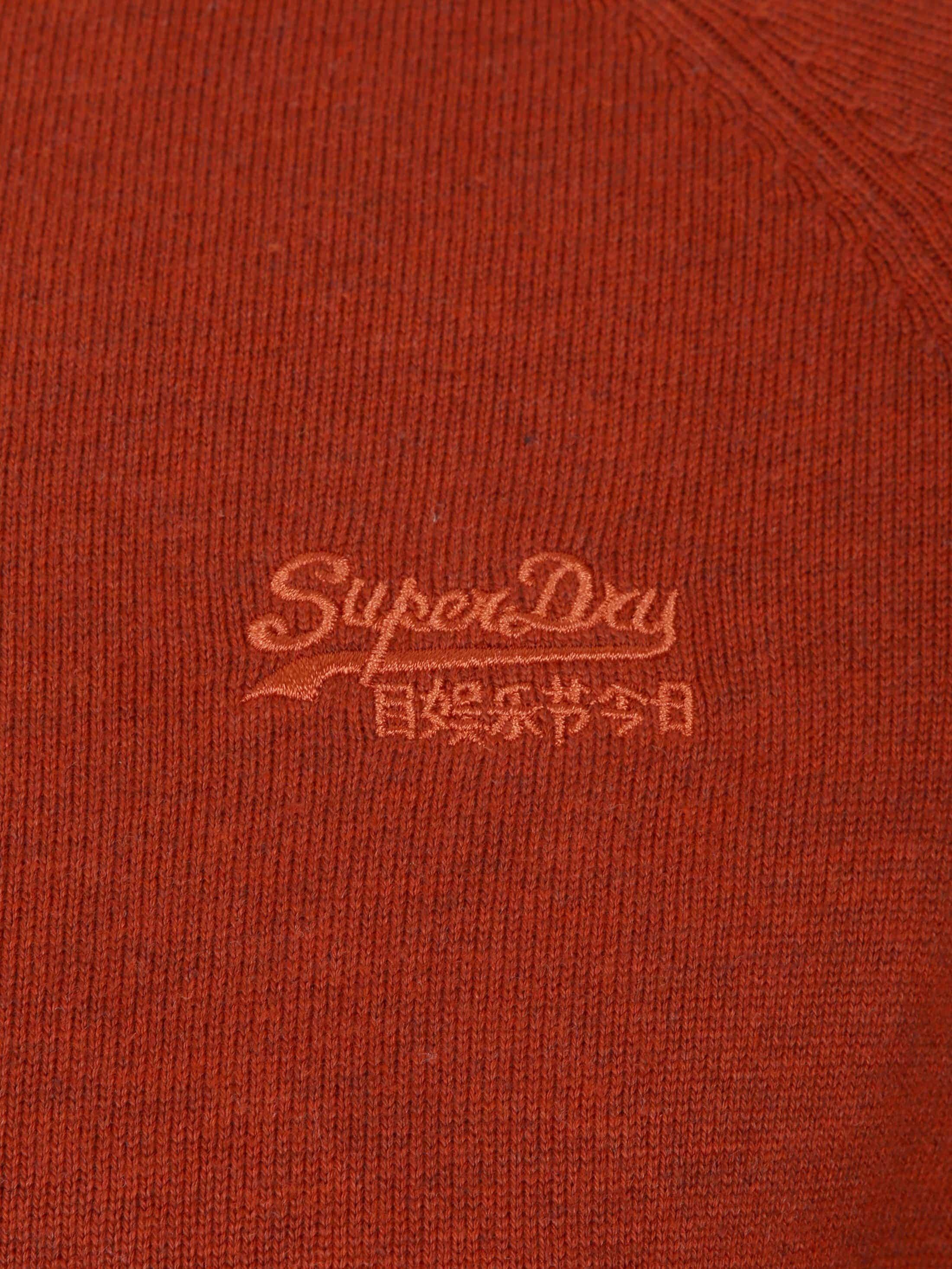Superdry Sweater Melange Red Orange foto 1