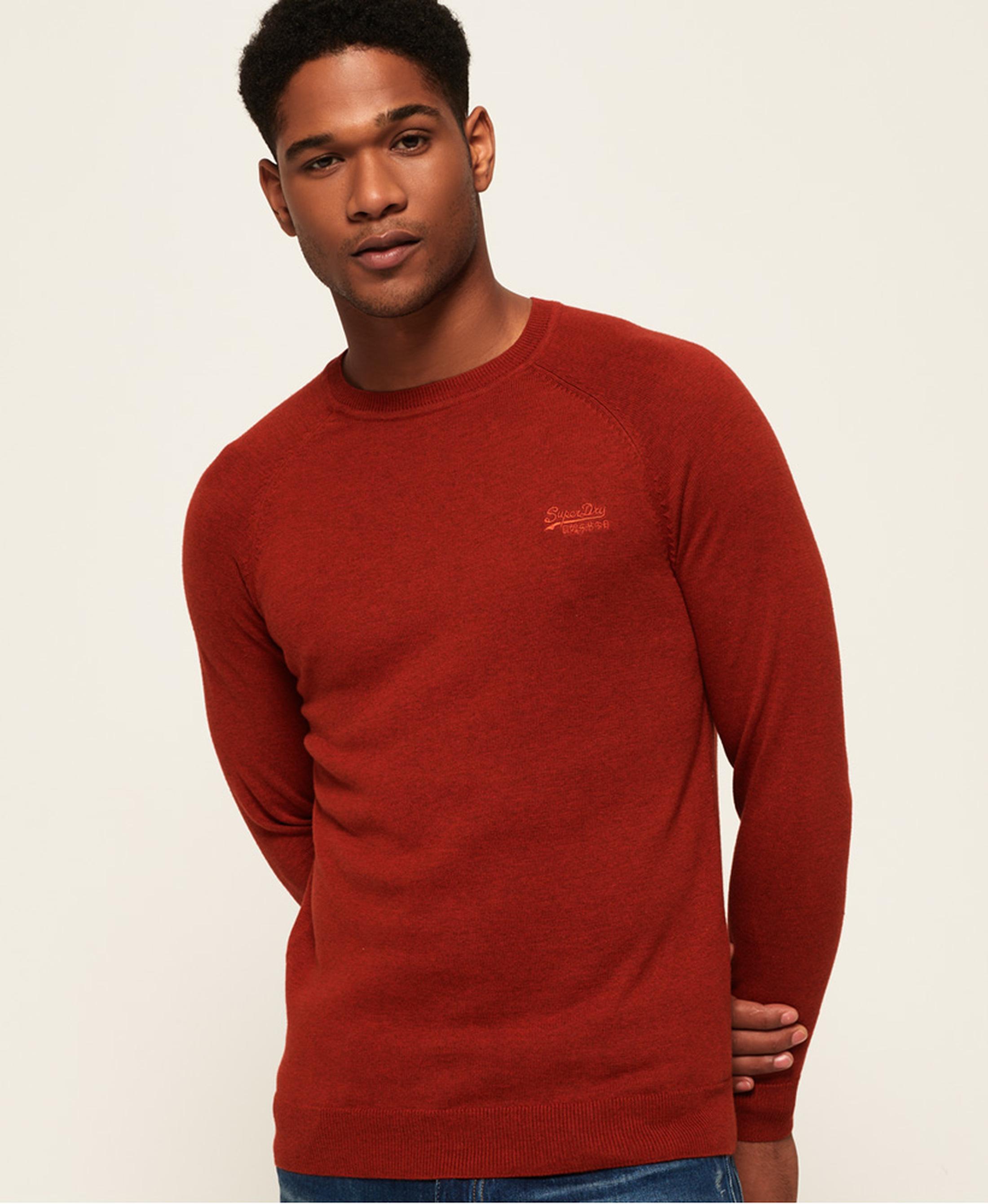 Superdry Sweater Melange Red Orange foto 3