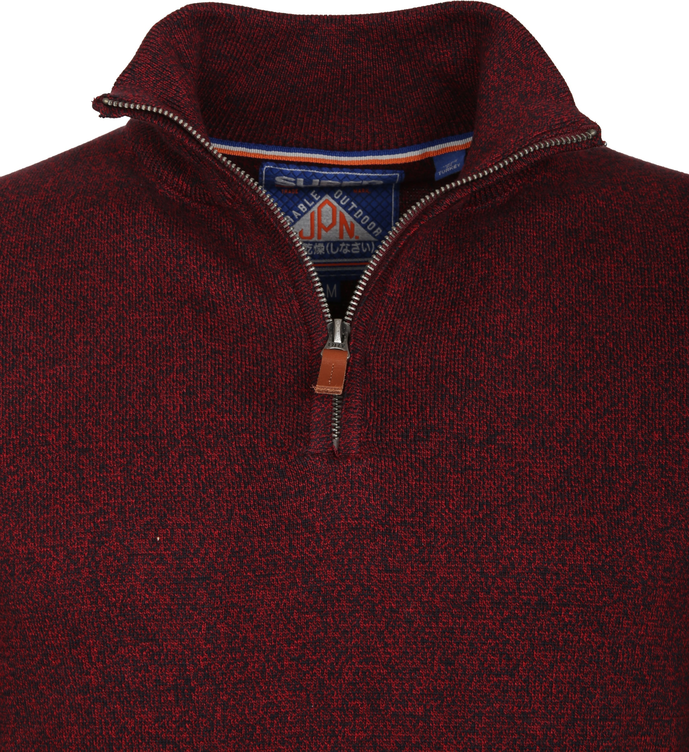 Superdry Sweater Melange Rood Rits foto 2