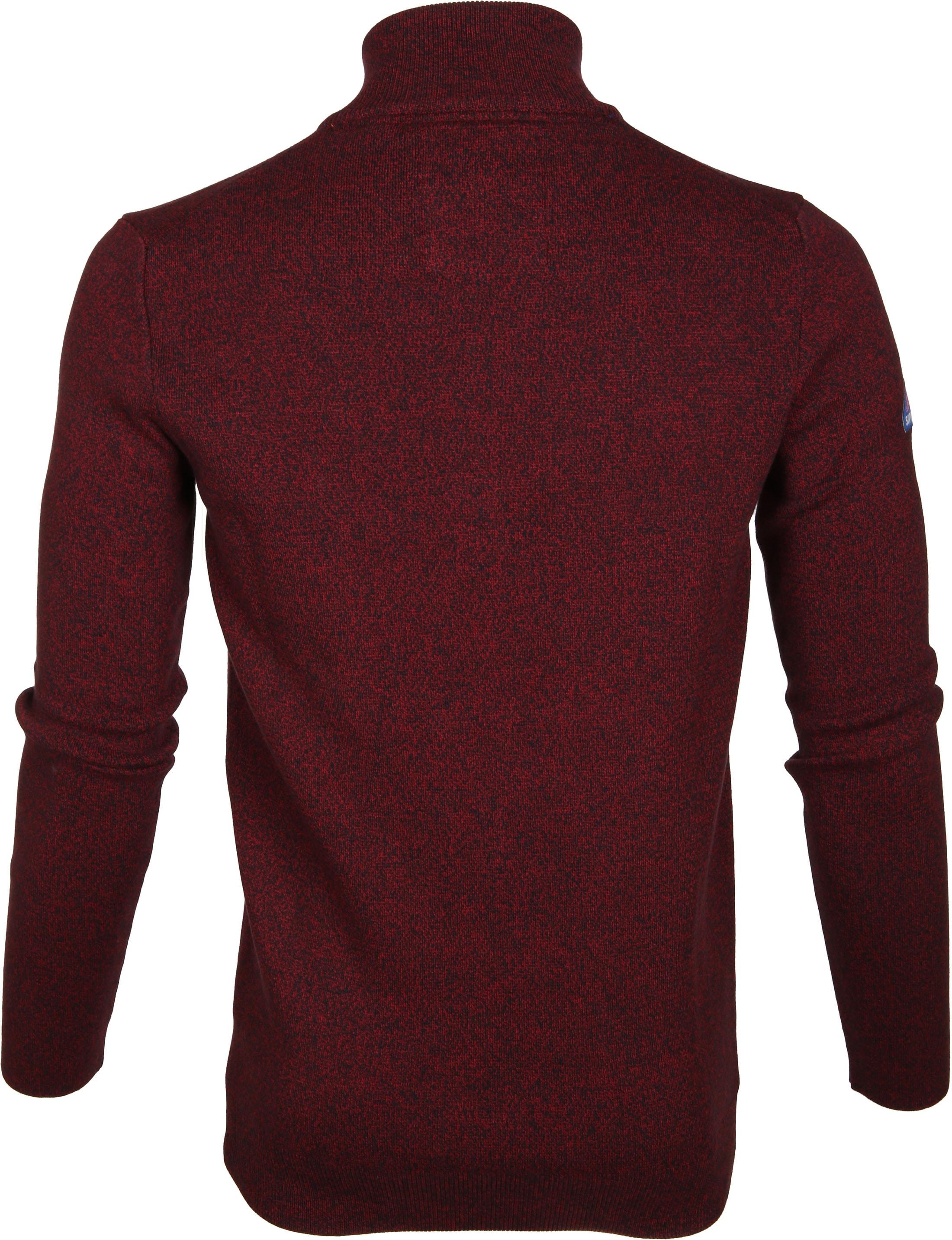 Superdry Sweater Melange Rood Rits foto 5