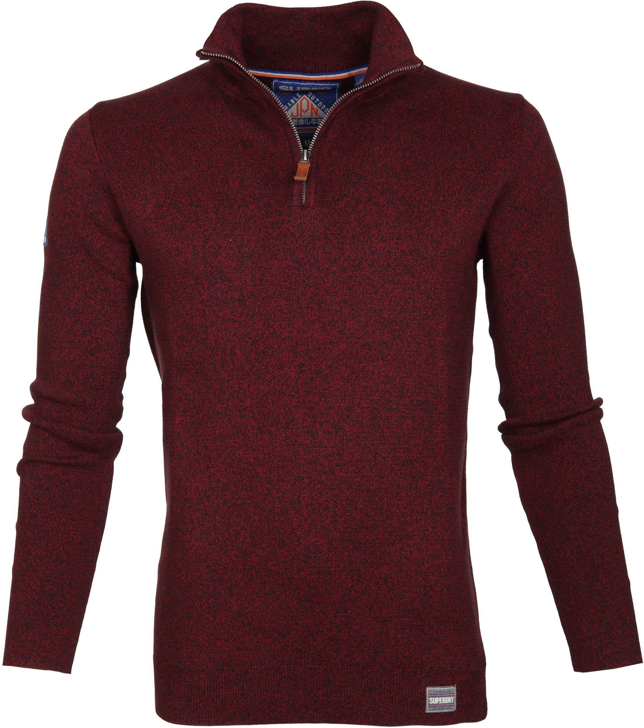 Superdry Sweater Melange Rot Reißverschluß foto 0