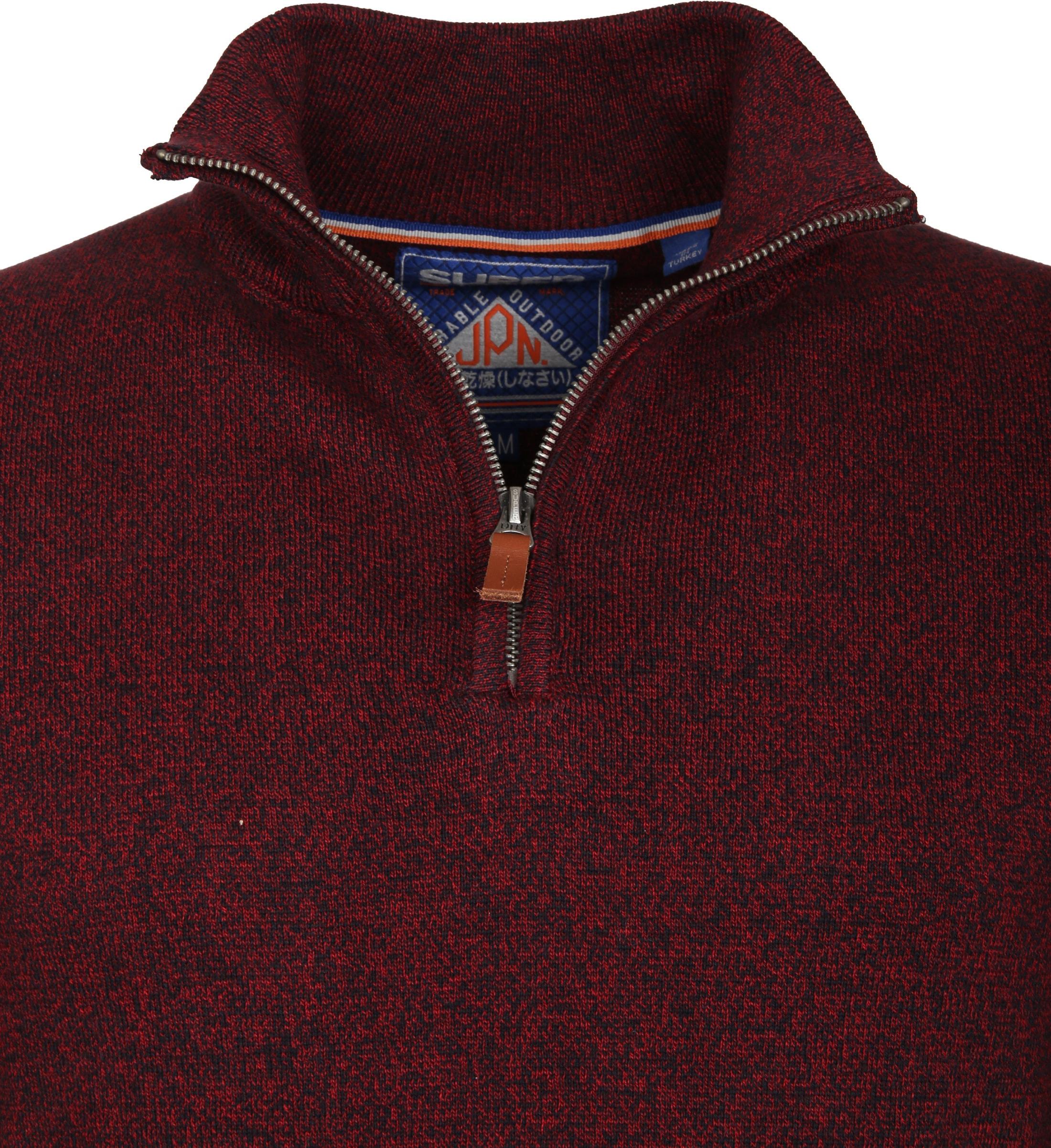 Superdry Sweater Melange Rot Reißverschluß foto 2