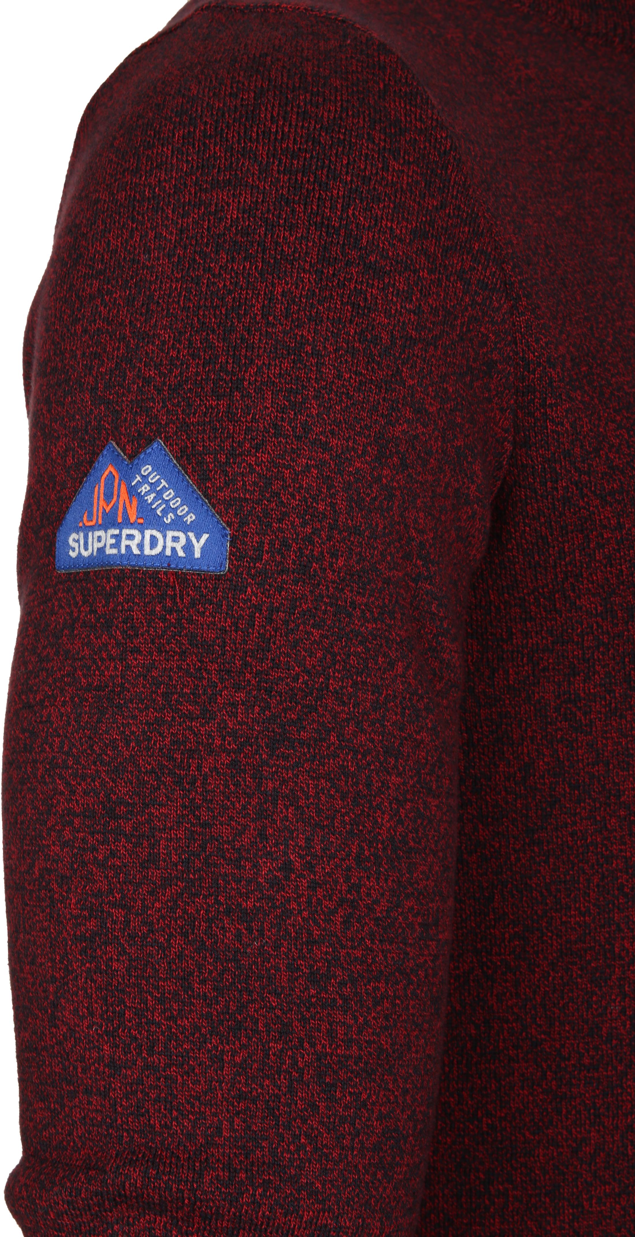 Superdry Sweater Melange Rot Reißverschluß foto 3