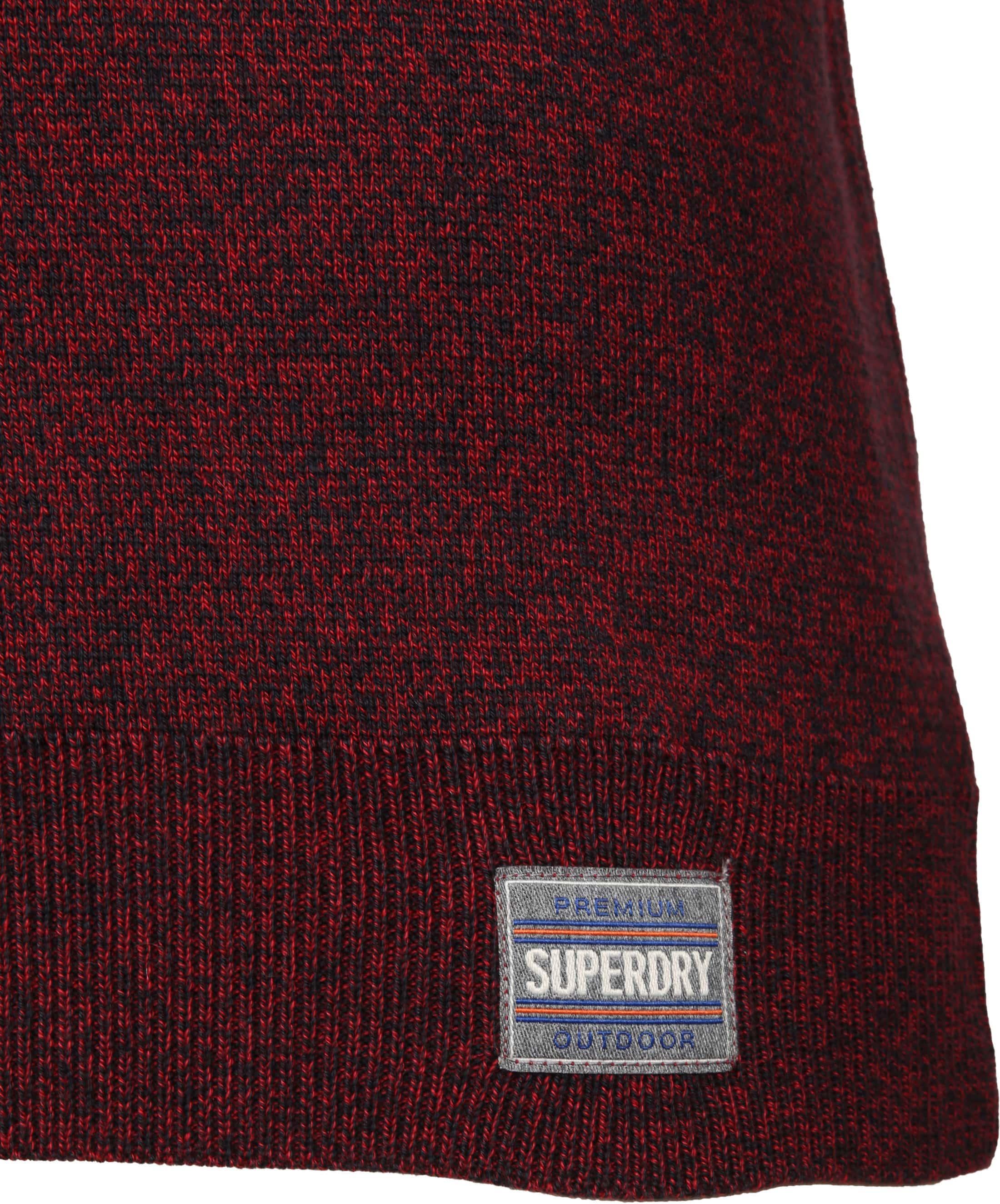Superdry Sweater Melange Rot Reißverschluß foto 4