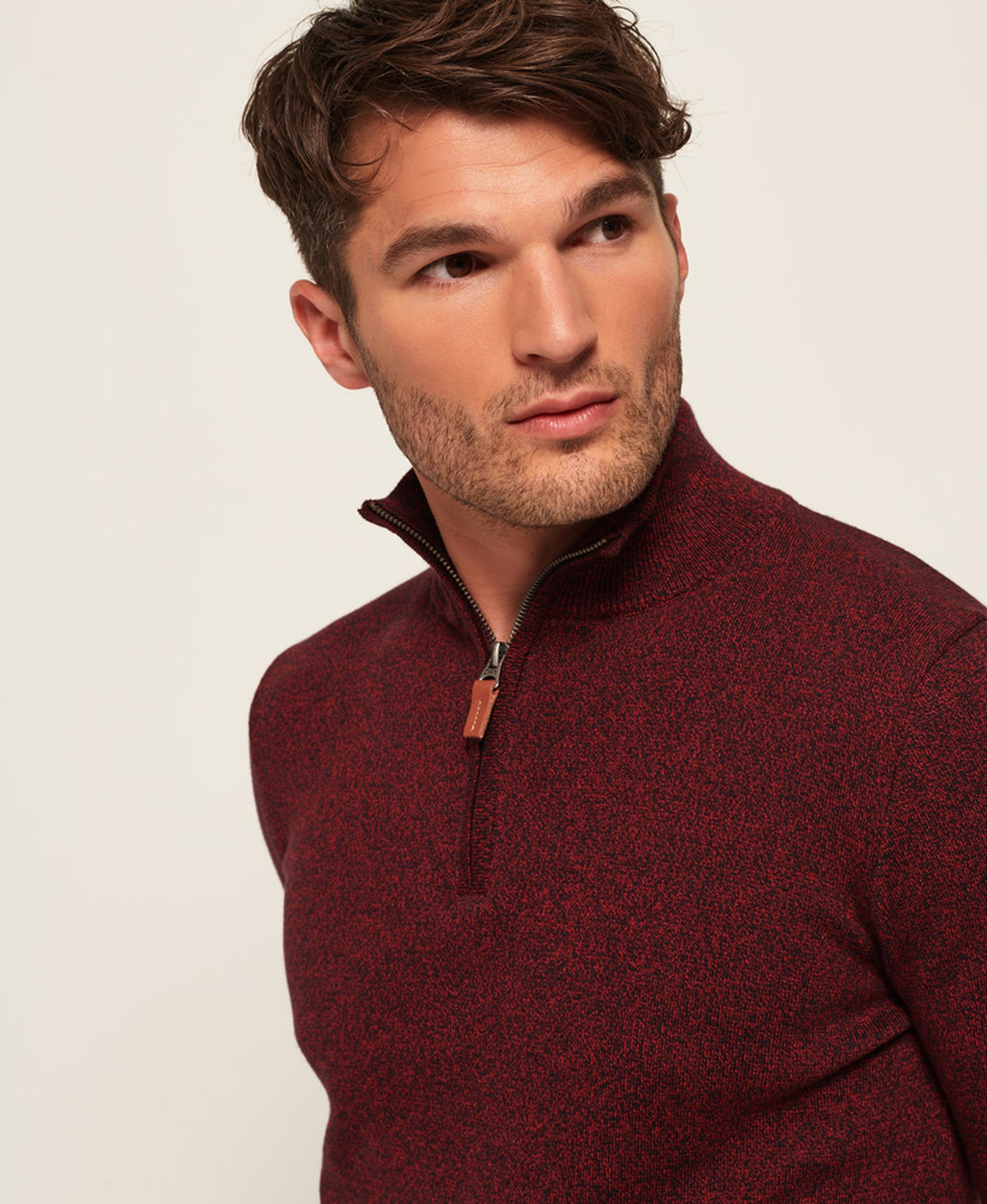 Superdry Sweater Melange Rot Reißverschluß foto 7