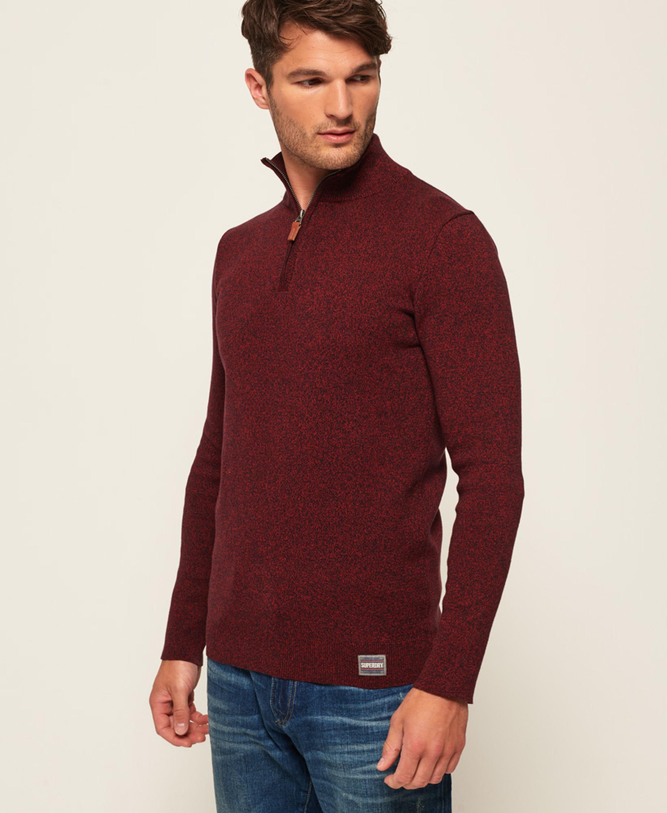Superdry Sweater Melange Rot Reißverschluß foto 1