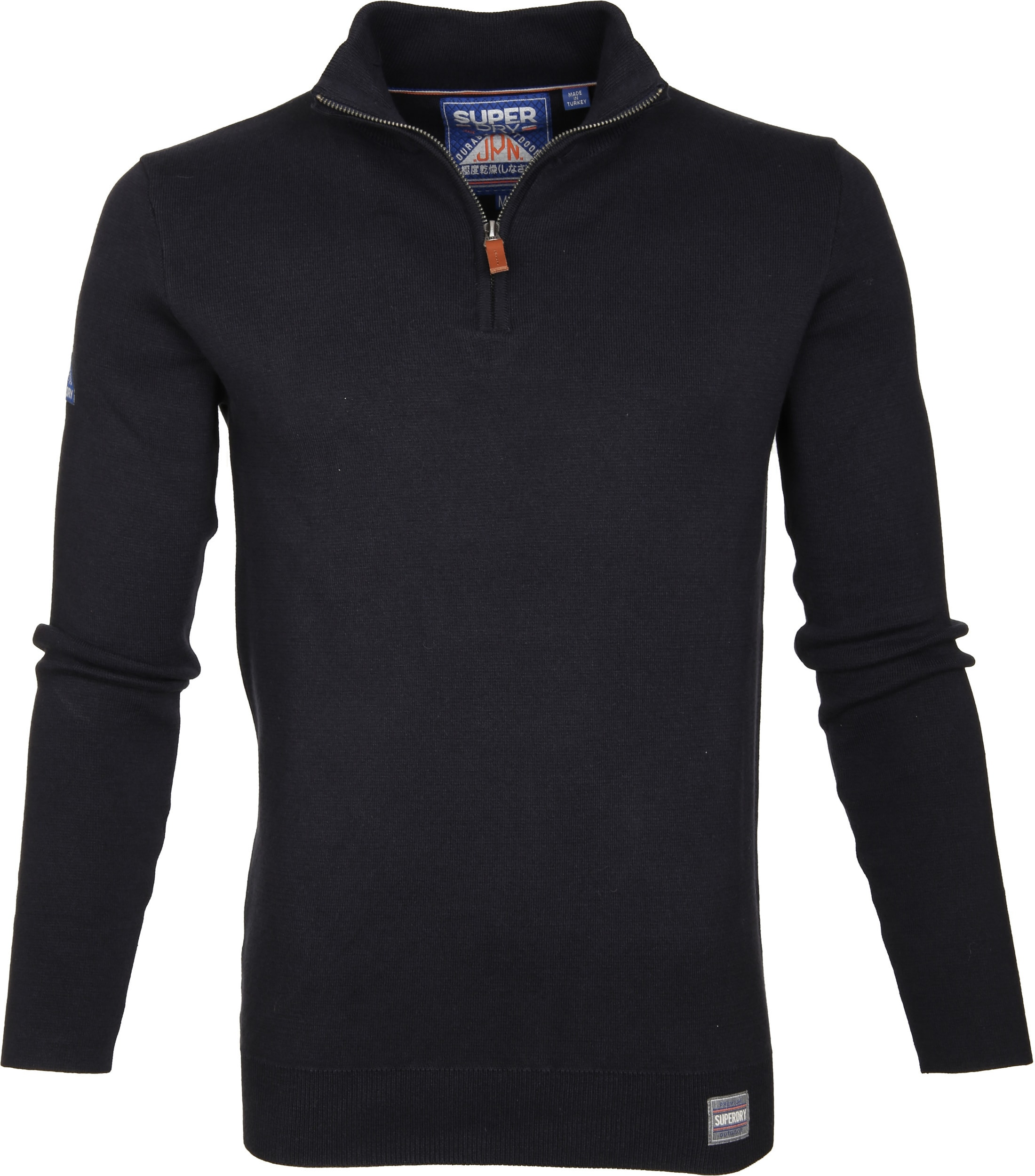 Superdry Sweater Navy Rits foto 0