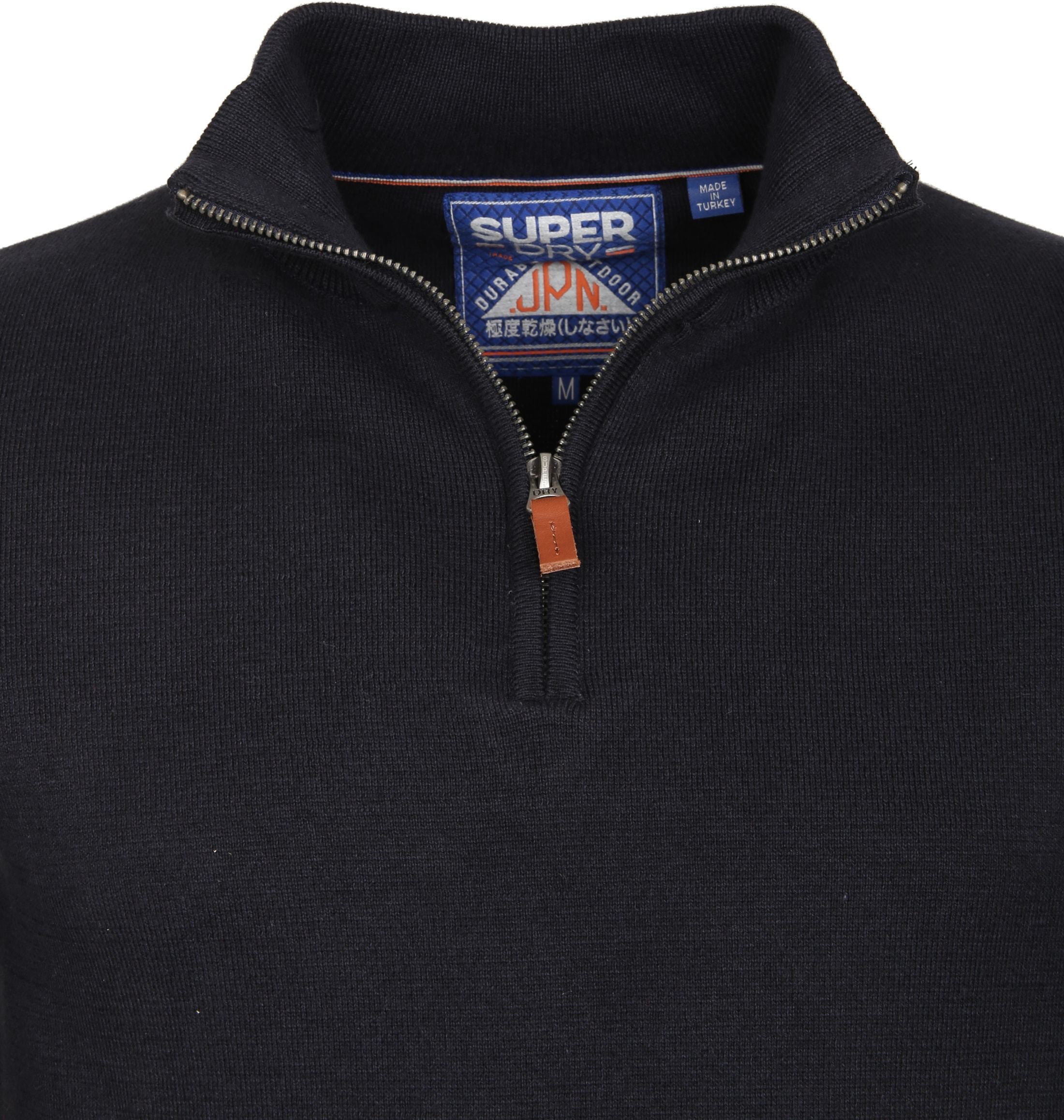 Superdry Sweater Navy Rits foto 2